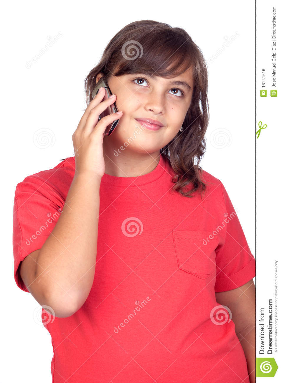More similar stock images of ` Adorable preteen girl with a mobile `