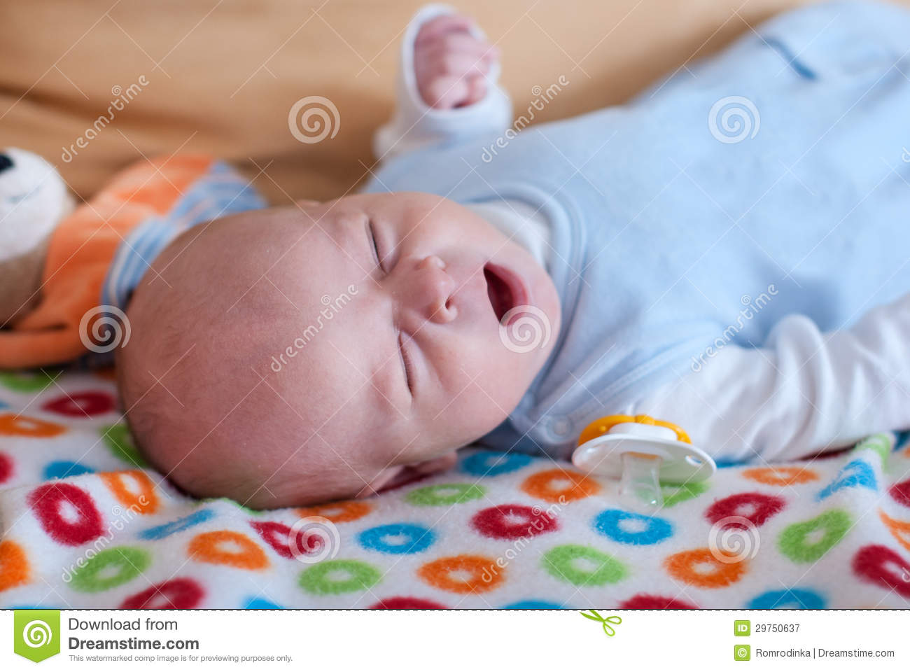 Adorable Baby Boy With Blue Eyes Stock Image - Image of ...