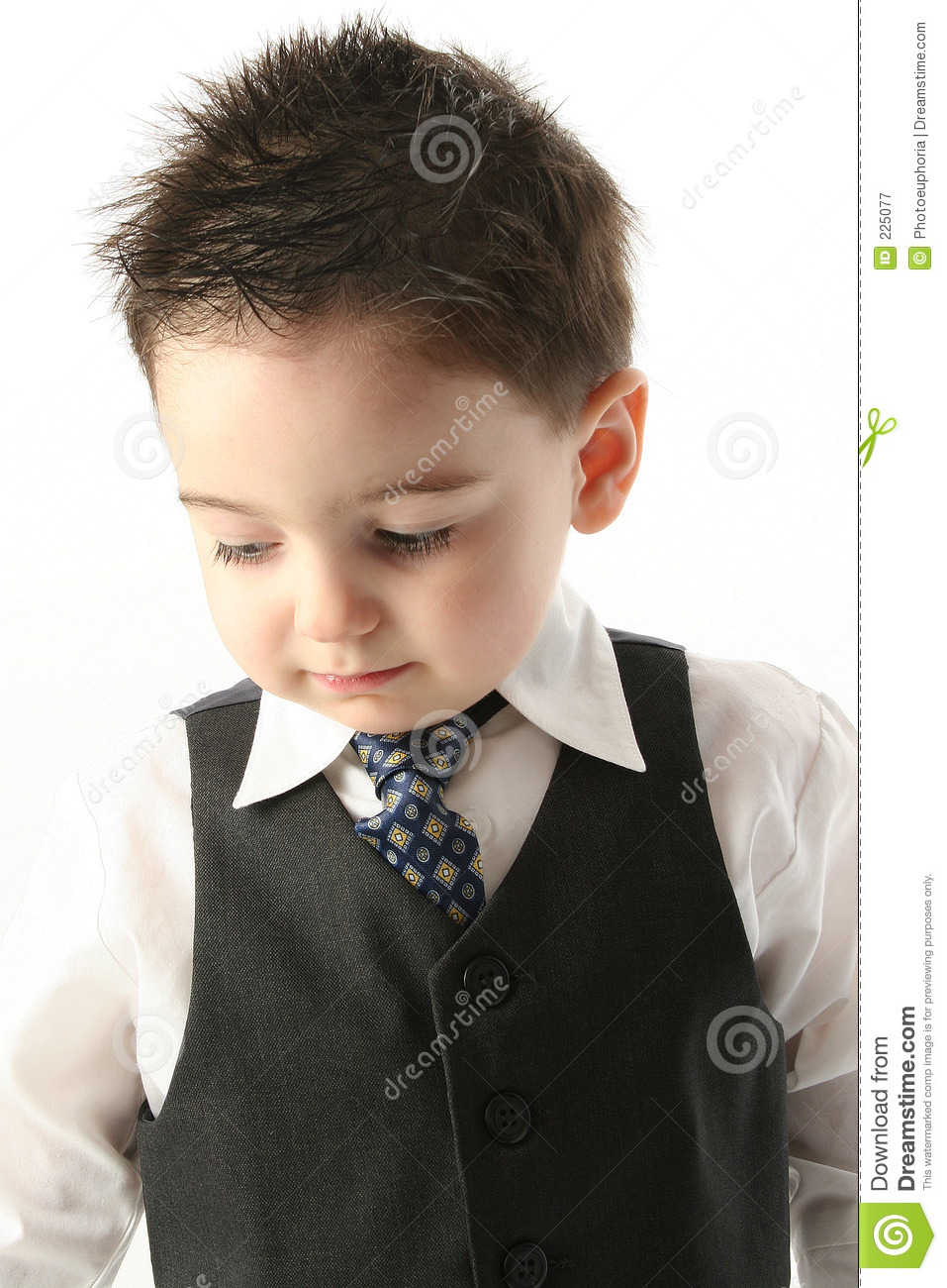 Download Adorable Toddler Boy In Vest And Tie Stock Image - Image of american, children: 225077