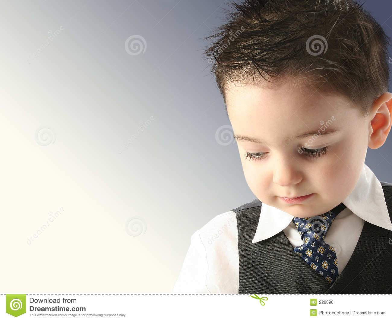 Adorable Toddler Boy In Vest And Tie Stock Photo Image