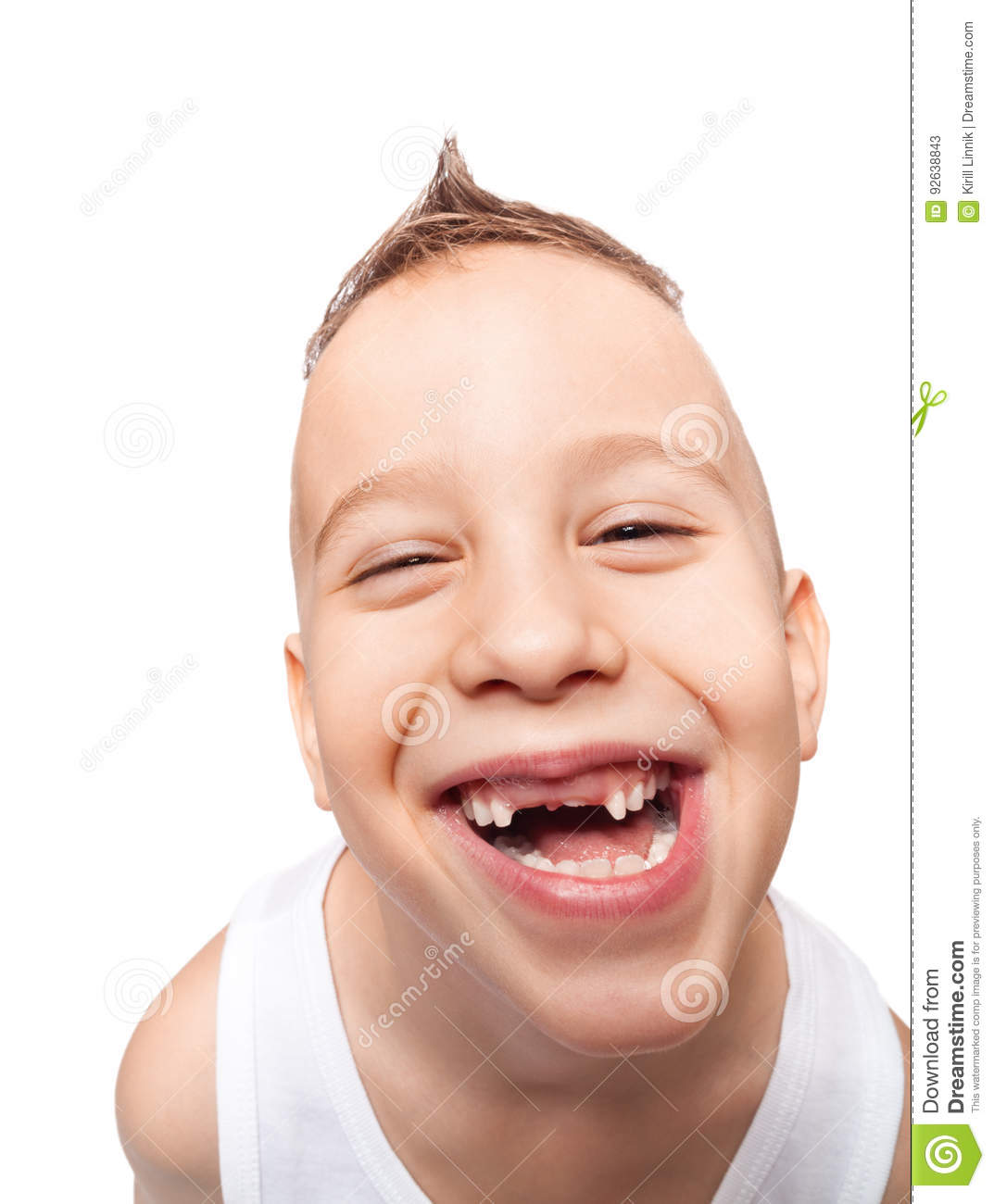 Download Adorable toothless smile stock image. Image of background - 92638843