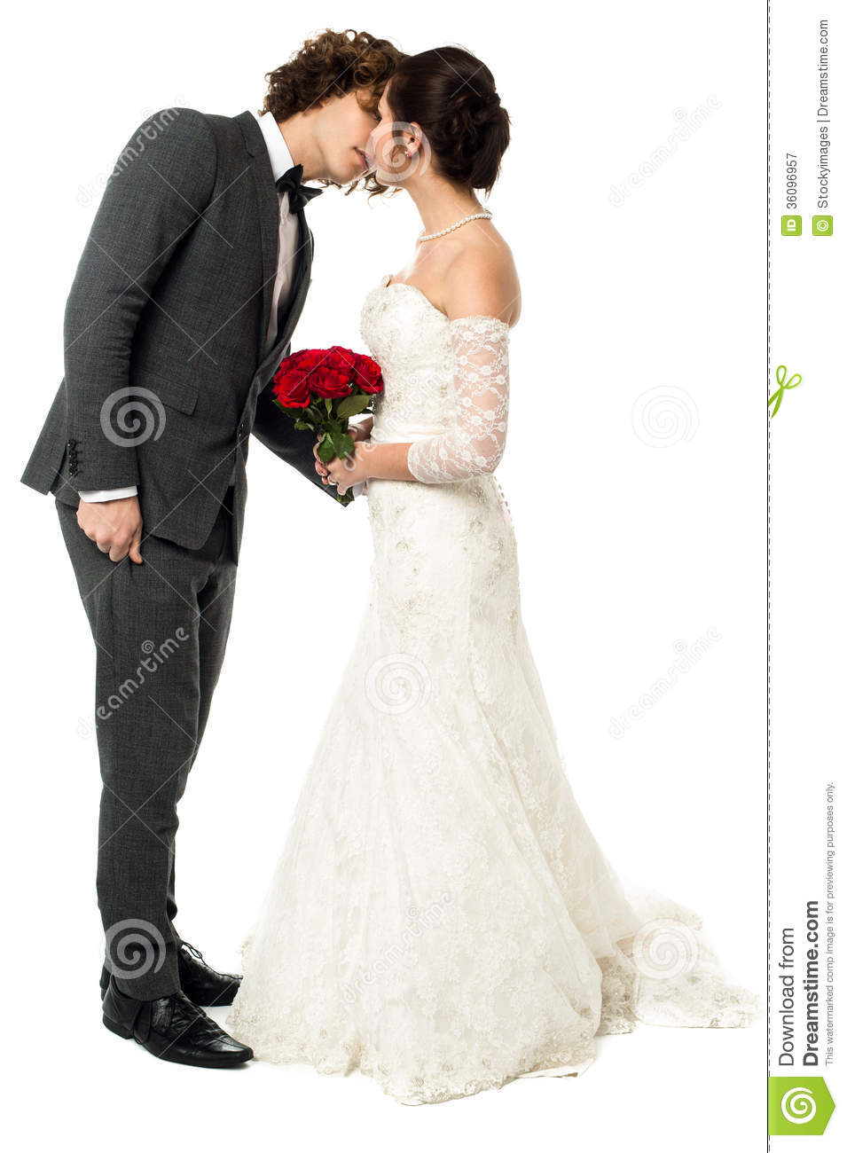 adorable young couple kissing royalty free stock