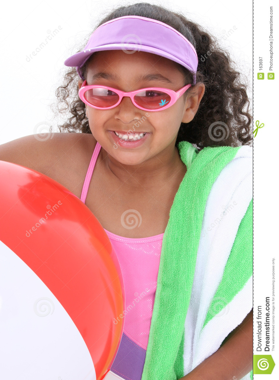 Adorable Young Girl Ready for the Beach