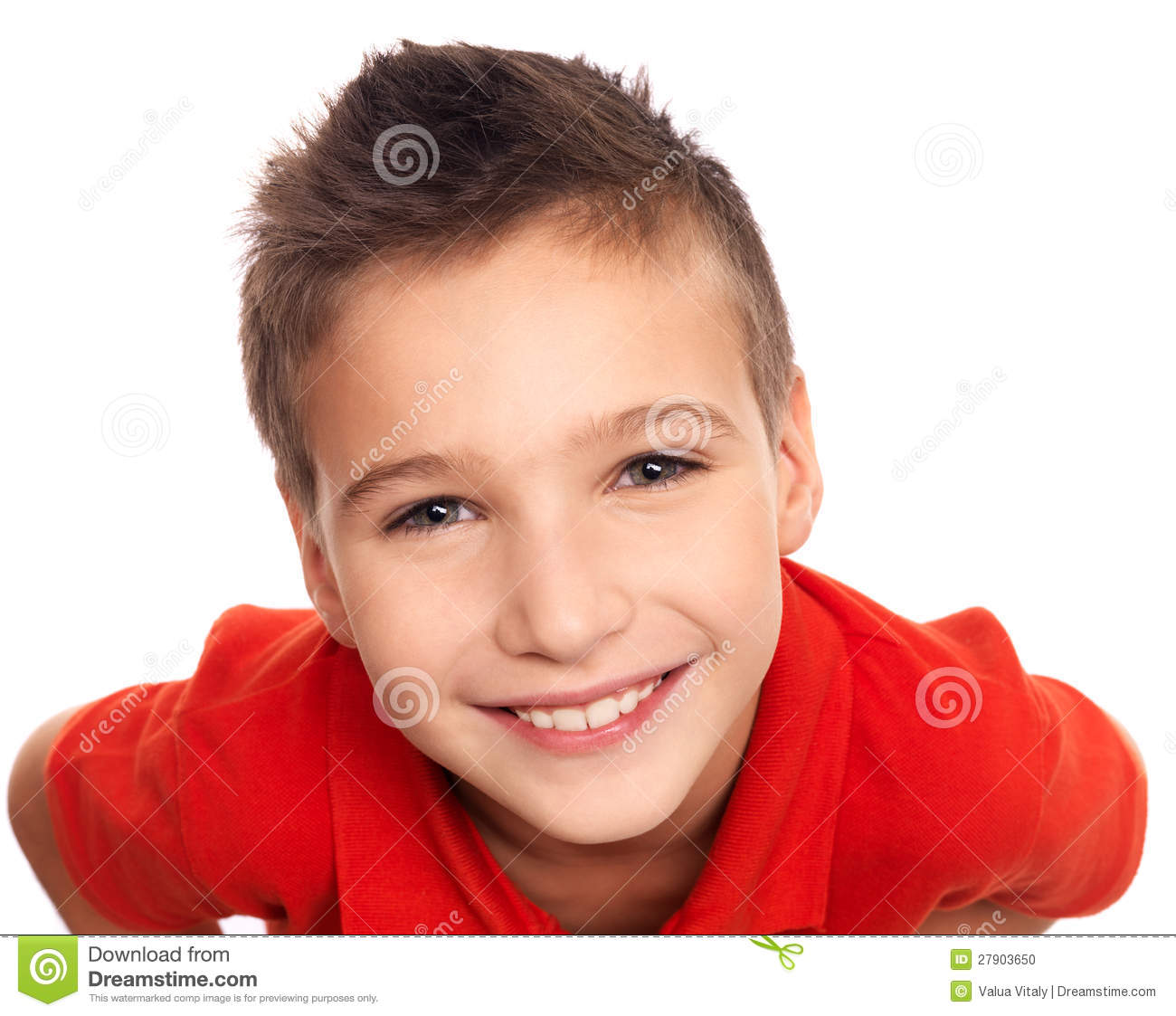 Adorable Young Happy Boy Stock Photo. Image Of Positive