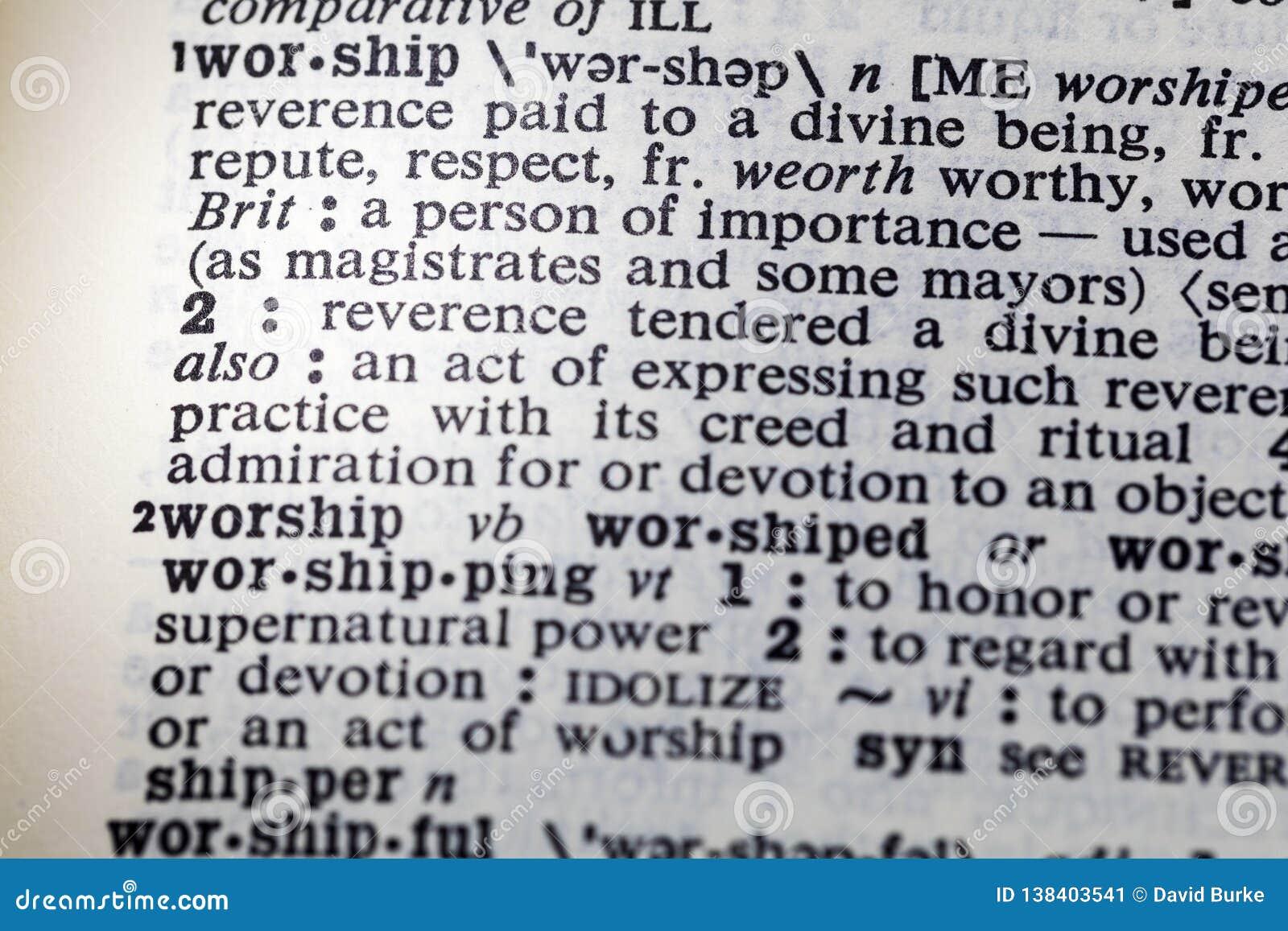 Adore a definição da devoção do poder da honra