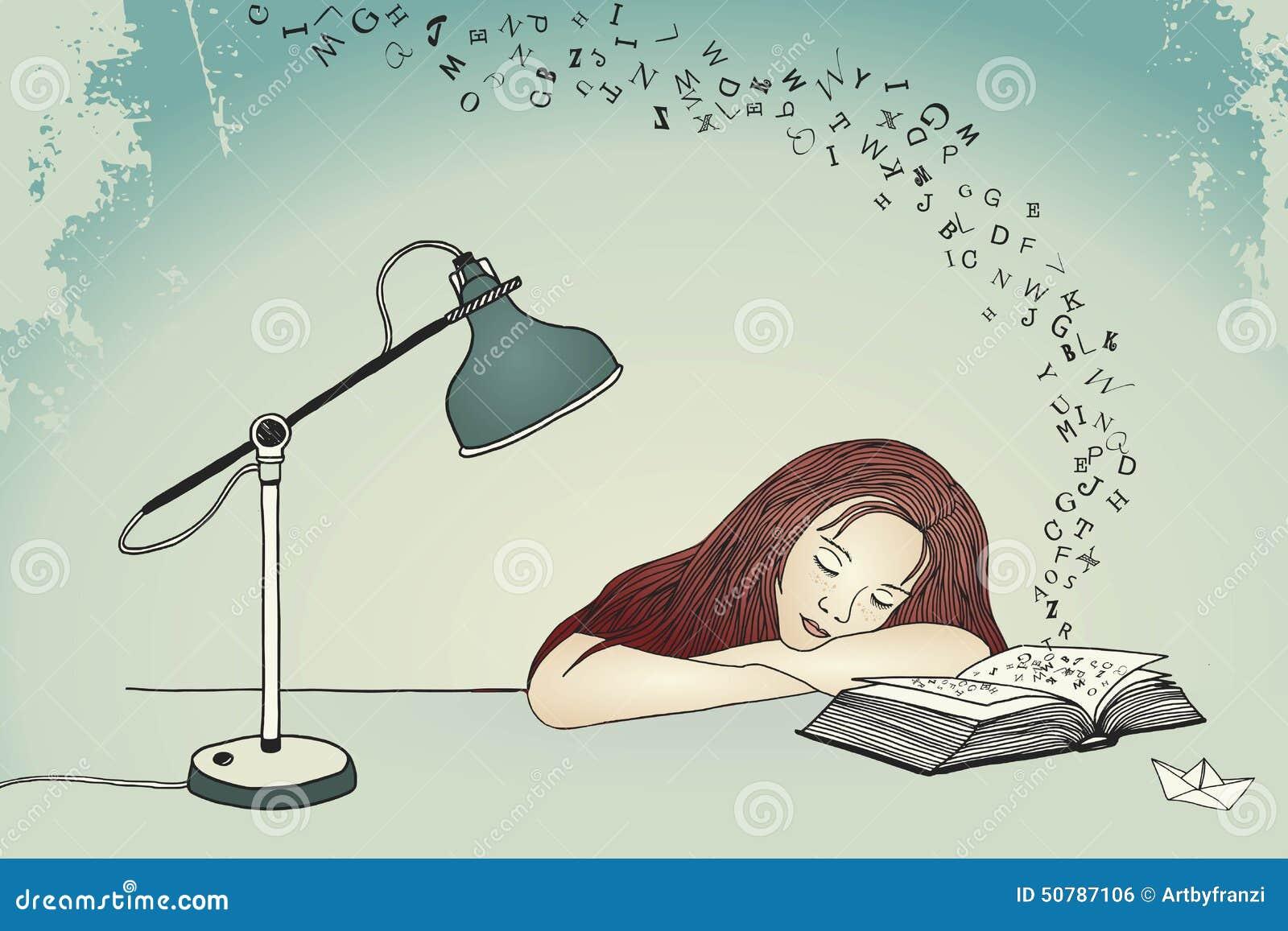 Adormecido ao ler