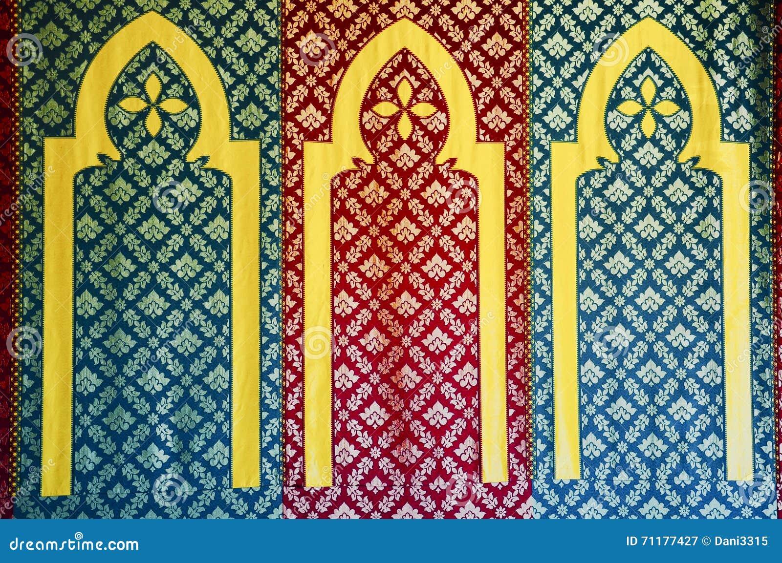 Adorno islámico del diseño del modelo, sobre la base del ornamento del otomano