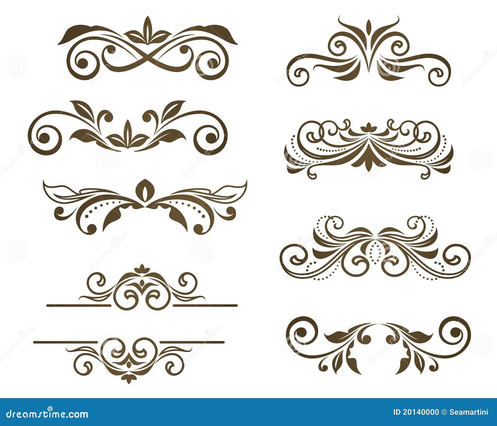 Adornos florales de la vendimia ilustraci n del vector for Adornos para paginas