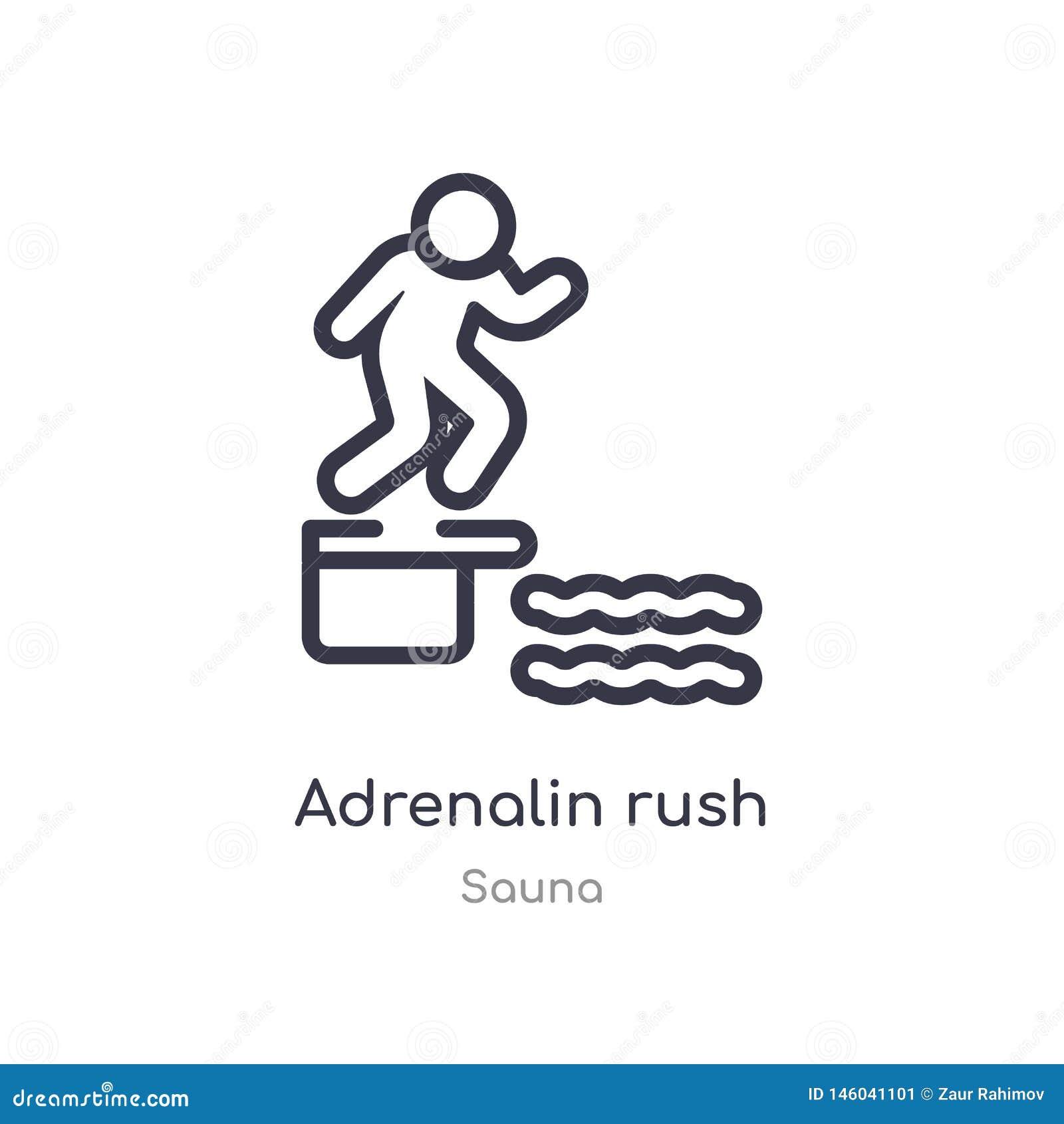 Adrenalin rusar översiktssymbolen isolerad linje vektorillustration fr?n bastusamling redigerbart tunt slaglängdadrenalin rusar p