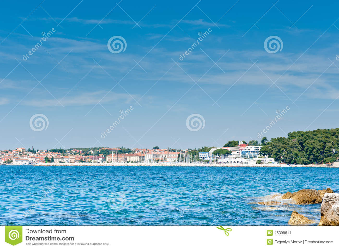 Adriatic coast resorts area
