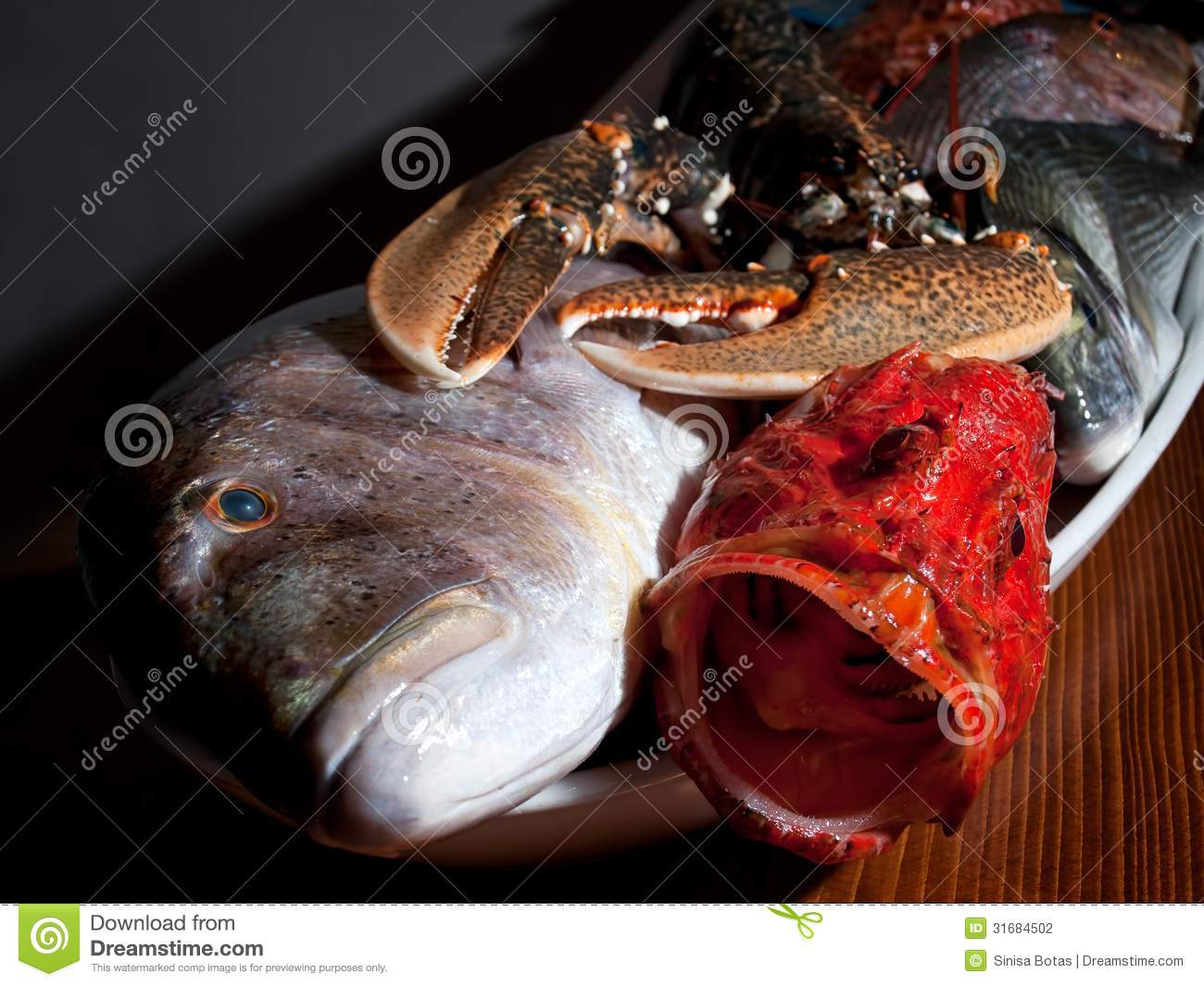 Adriatic fruits stock photography image 31684502 for Fish on main
