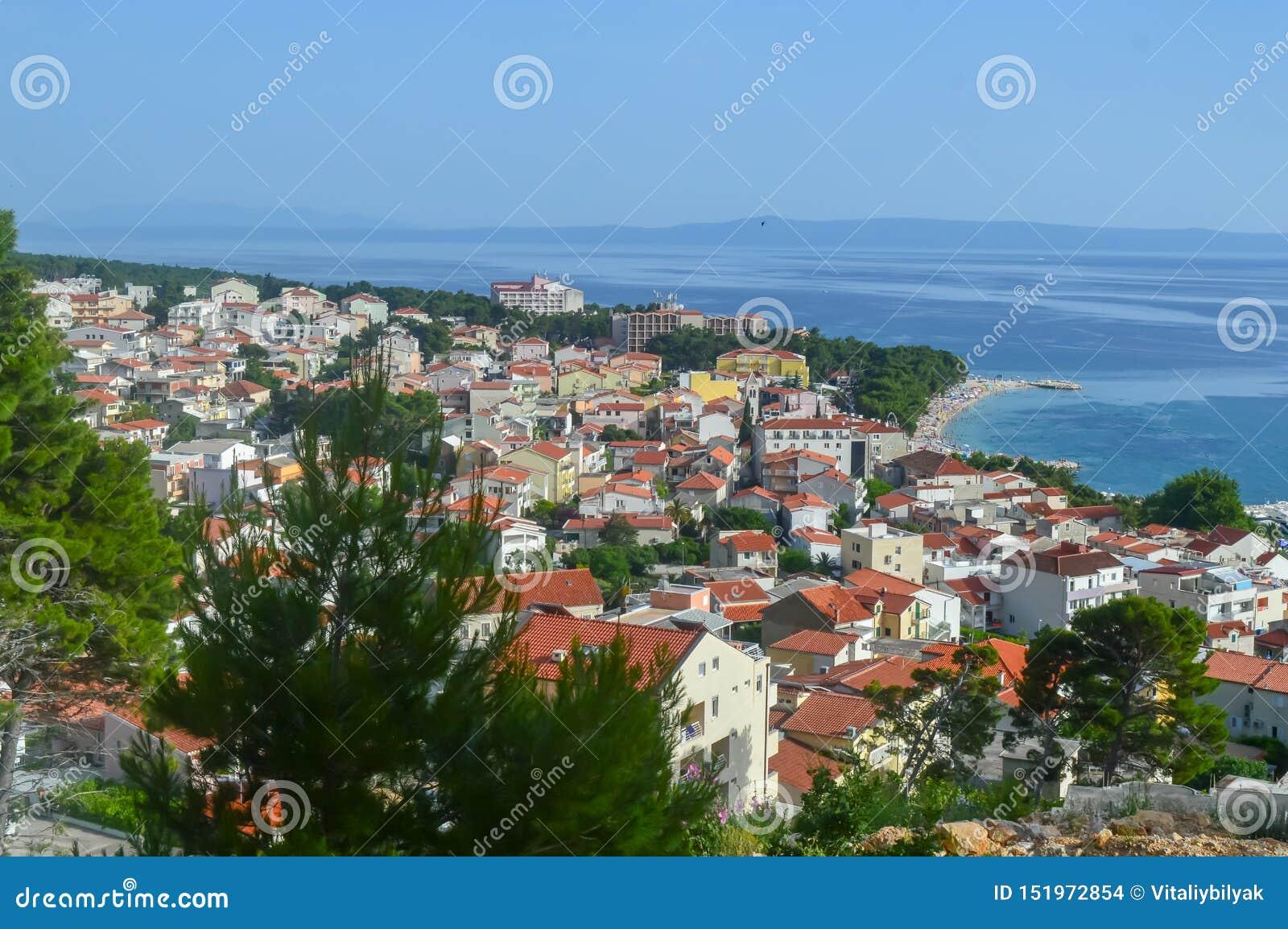 Adriatische Seeküste Makarska Riviera von Dalmatien