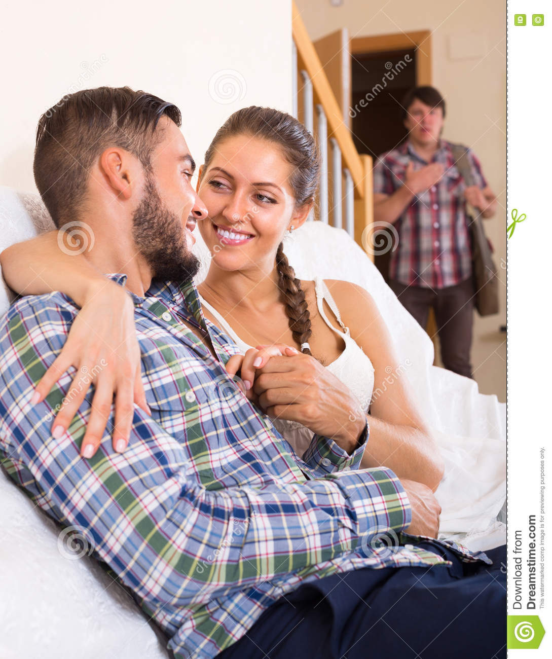 Adult And Cheating Partner At Home