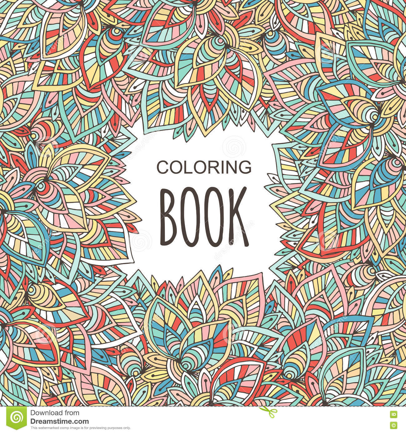 Royalty Free Vector Download Adult Coloring Book Cover