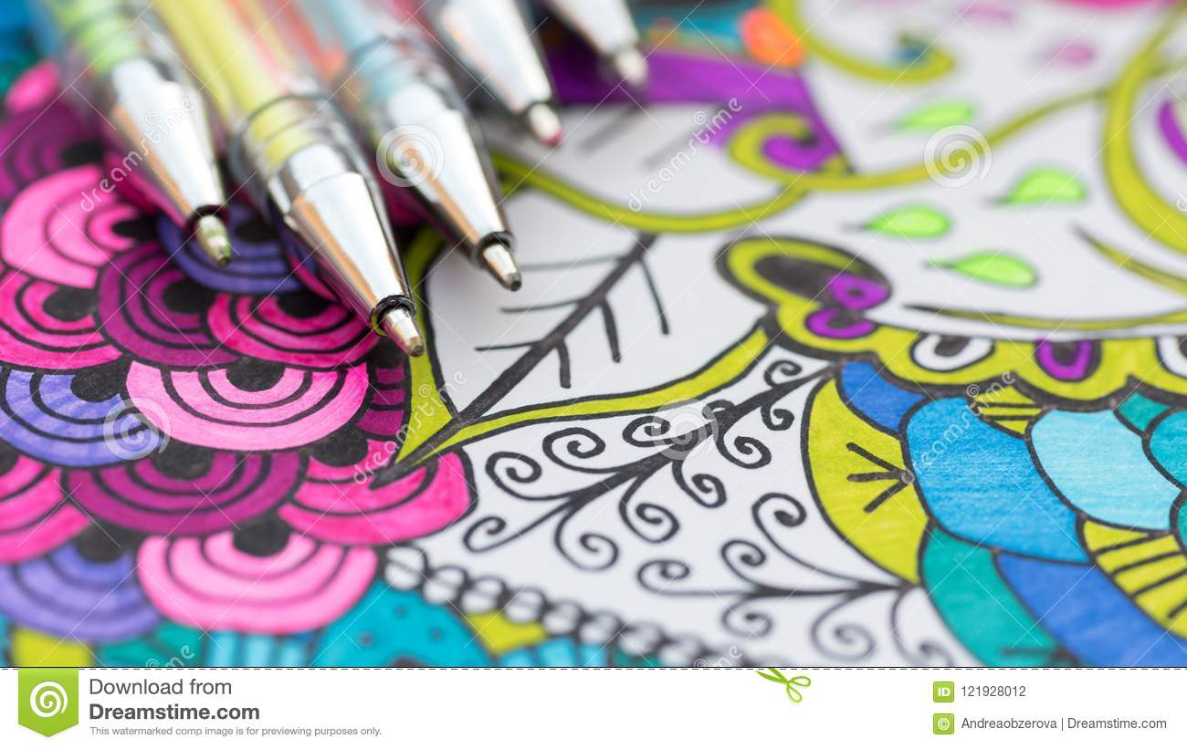 Download Adult Coloring Book New Stress Relieving Trend Art Therapy Mental Health
