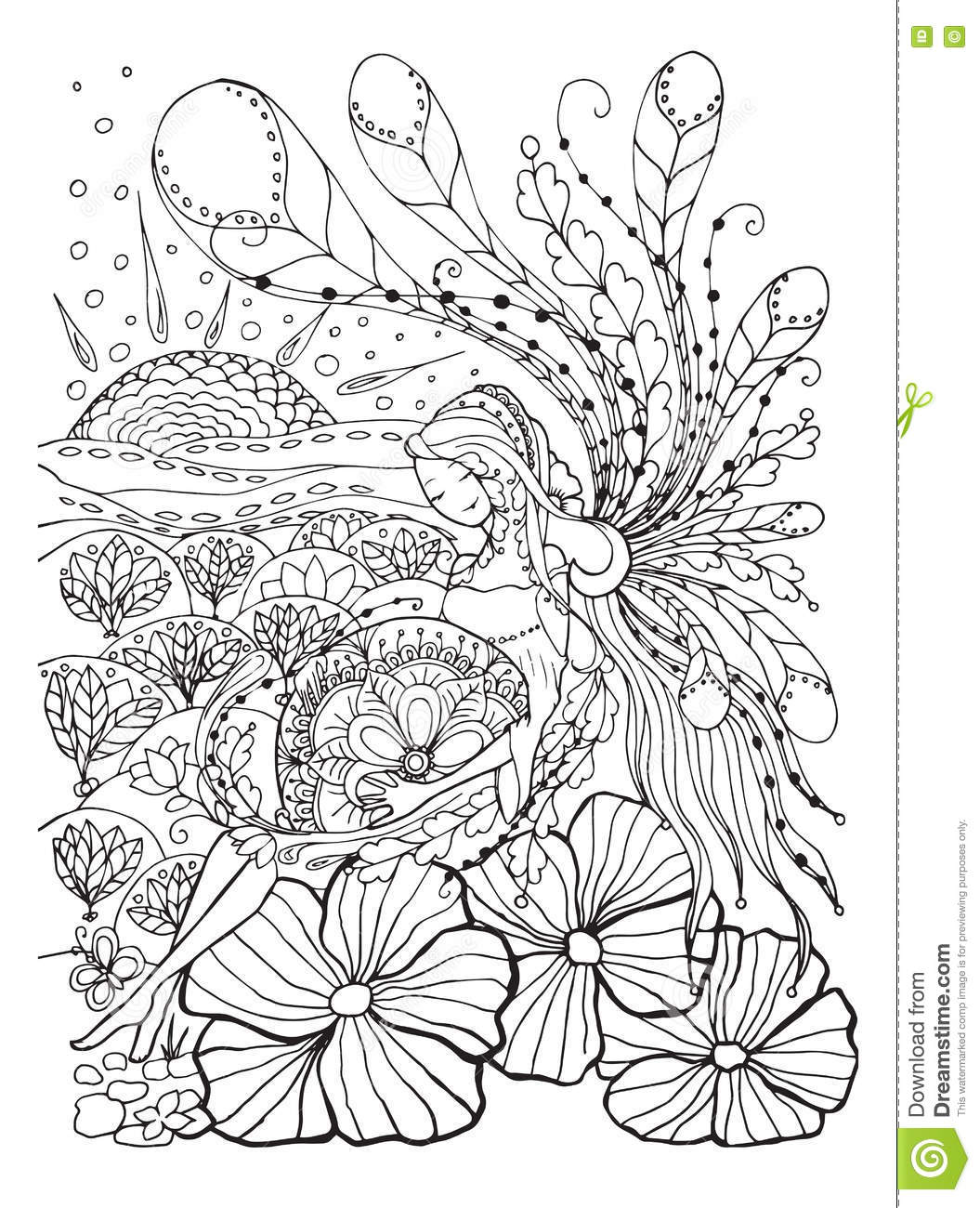 Adult Coloring Book Page With Pregnant Lady Pregnancy In