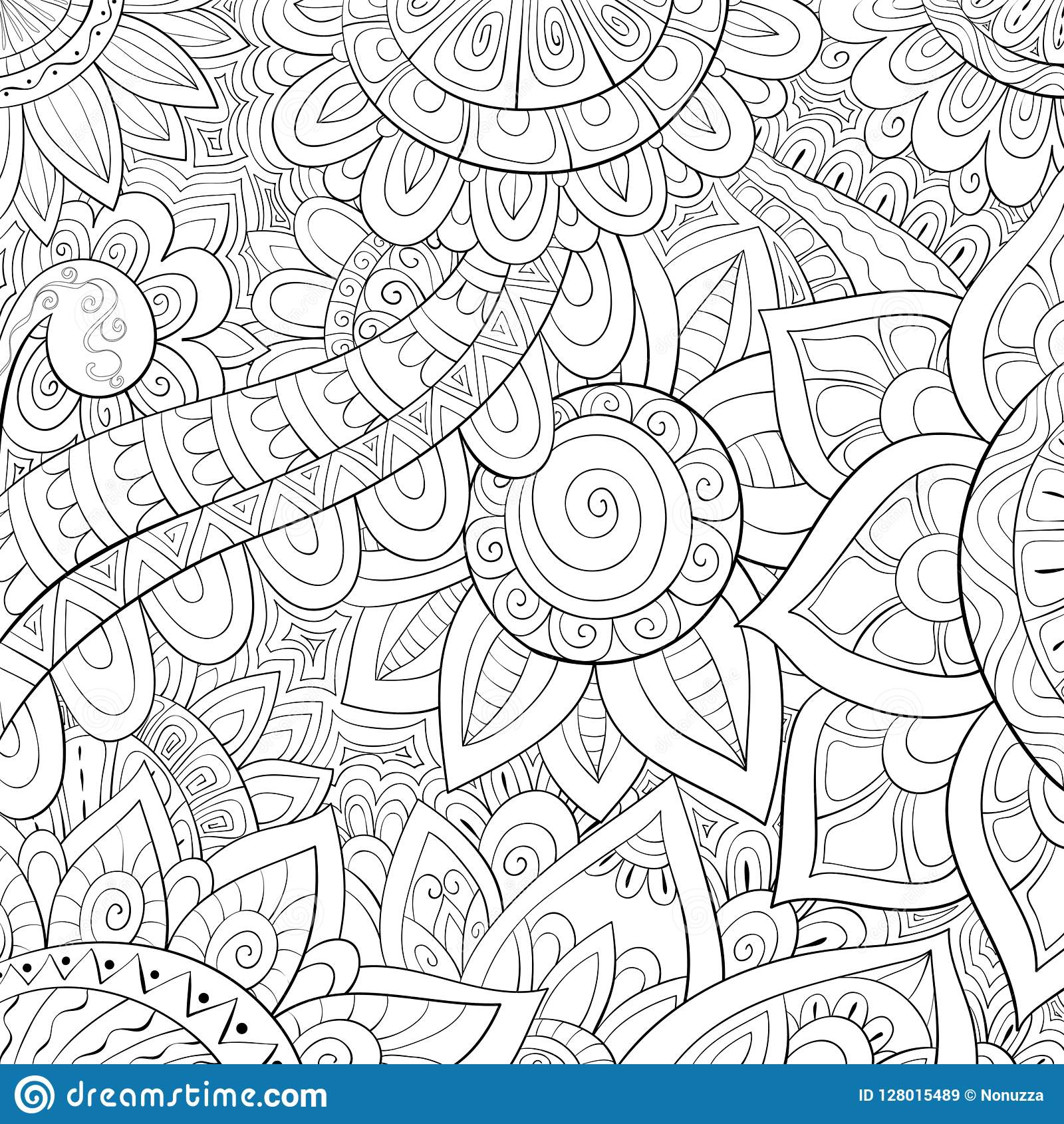 Adult Coloring Page Book An Abstract Background Image For