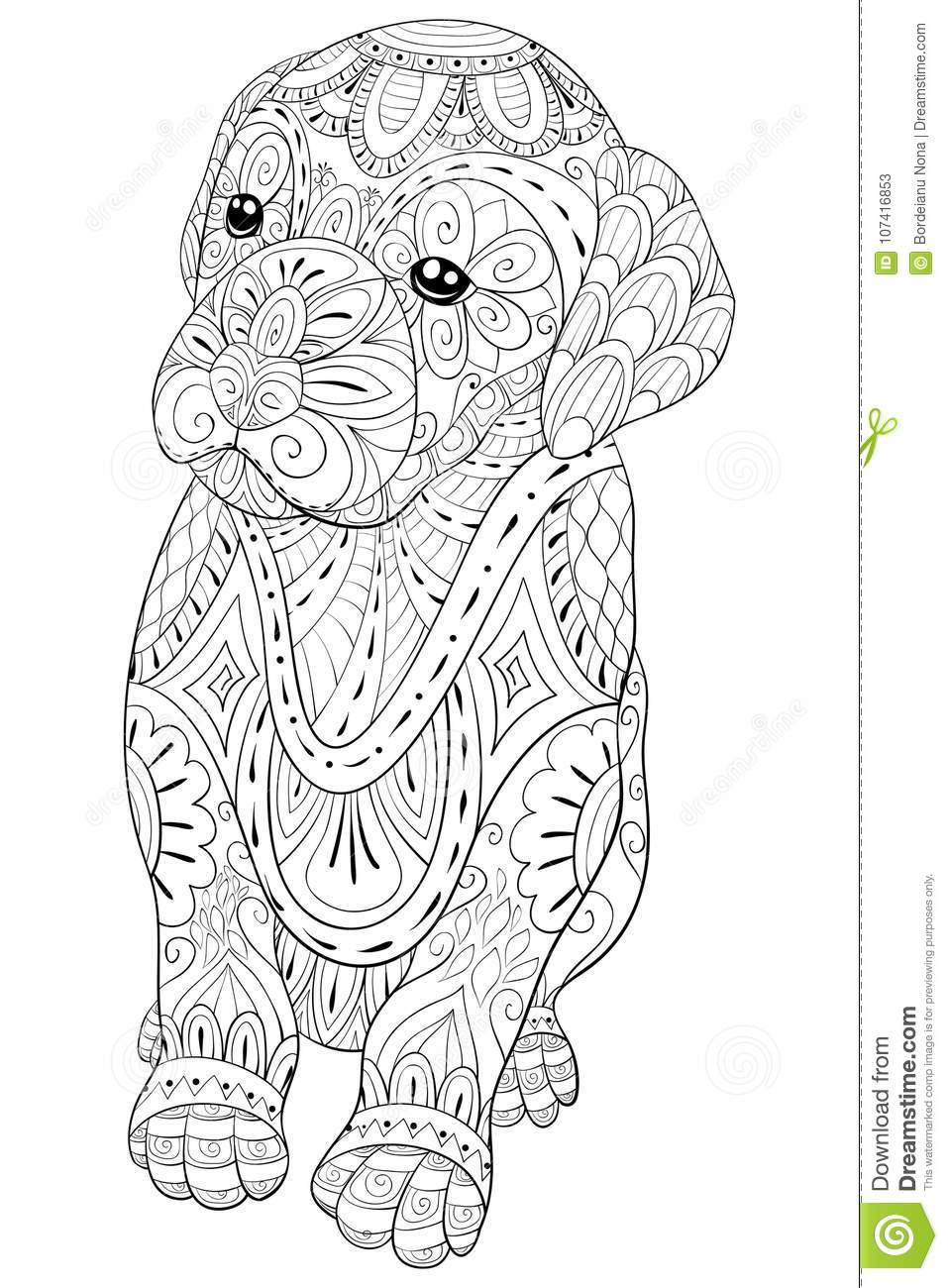 Adult Coloring Page A Cute Little