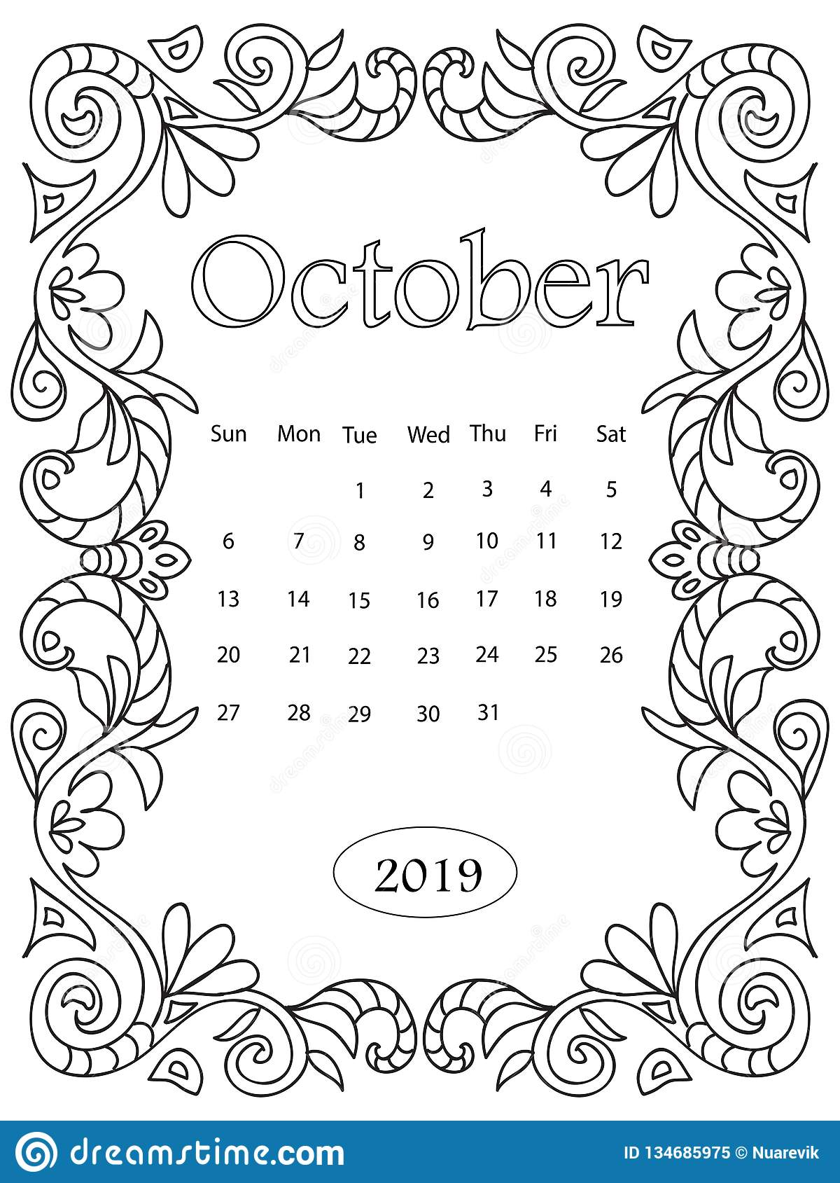 2019 Coloring Pages Printable Monthly Calendars For Kids | Kids calendar,  Scrapbook calendar, Coloring pages | 1689x1200