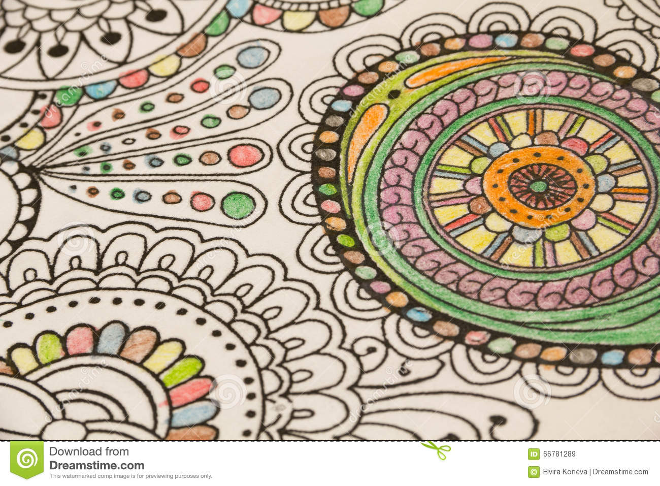 Download Adult Colouring Books With Pencils New Stress Relieving Trend Mindfulness Concept Person Coloring
