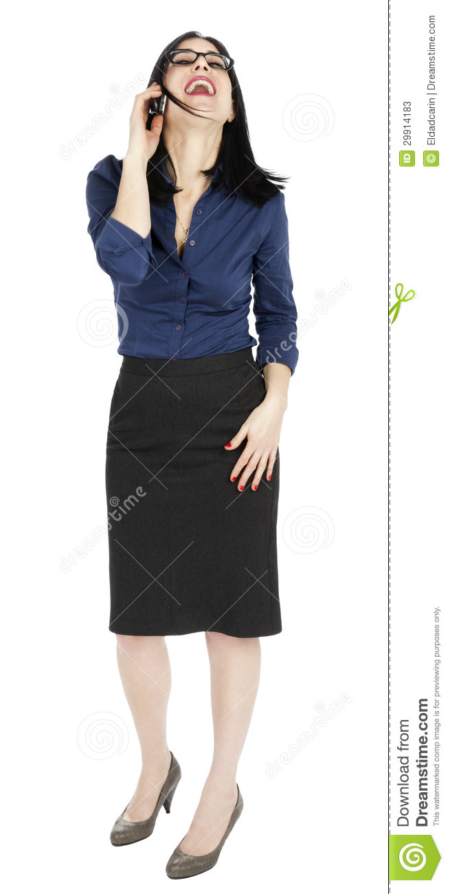 Business Woman Laughing On The Phone Stock Photos - Image -2278