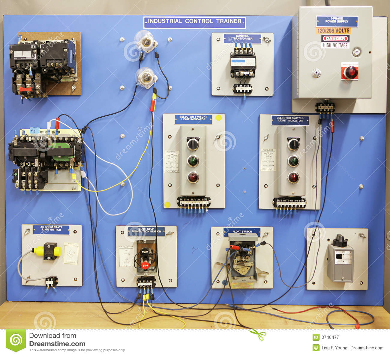 Adult Ed Industrial Control Trainer Royalty Free Stock