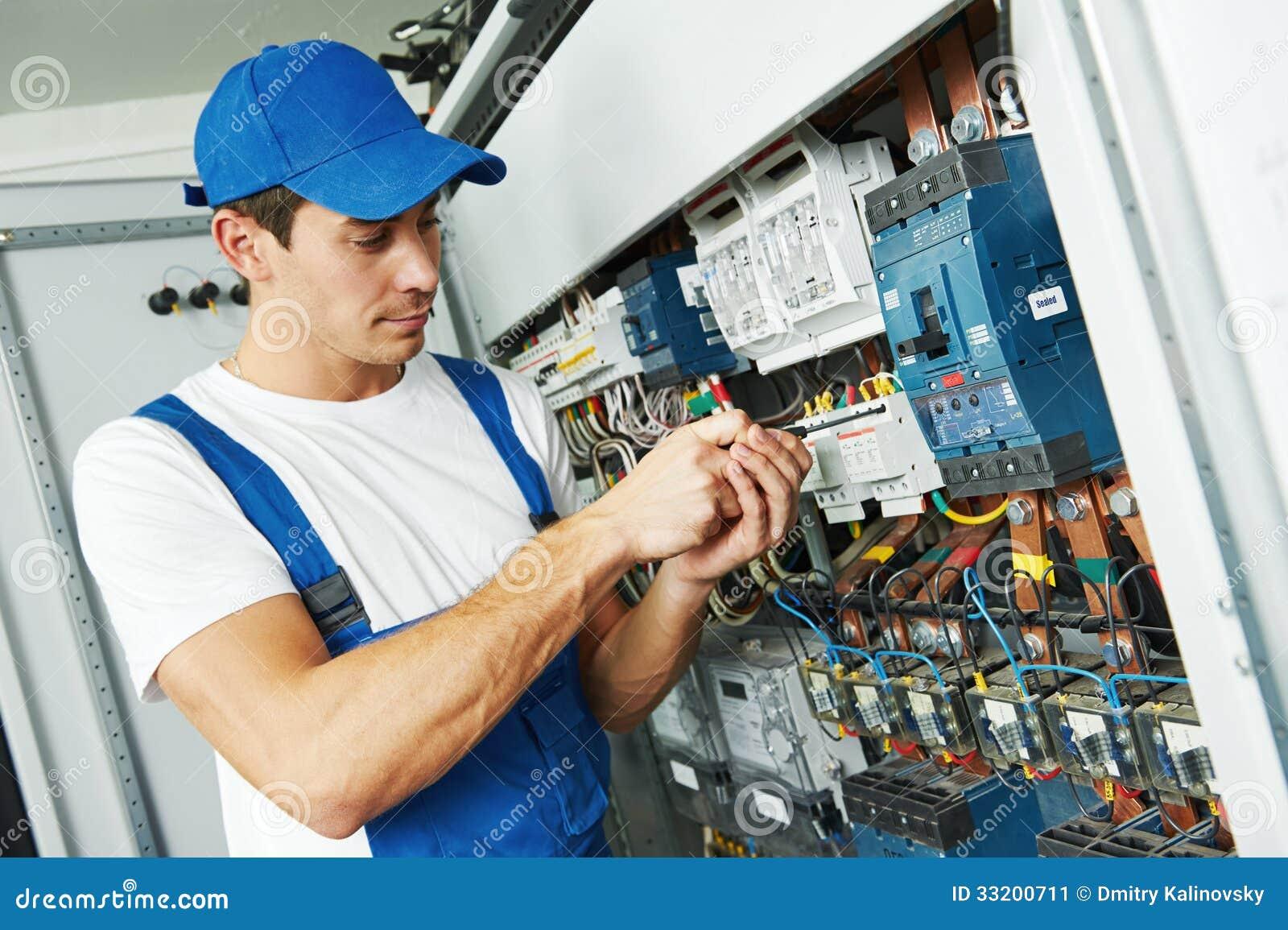 adult electrician engineer worker stock image image. Black Bedroom Furniture Sets. Home Design Ideas