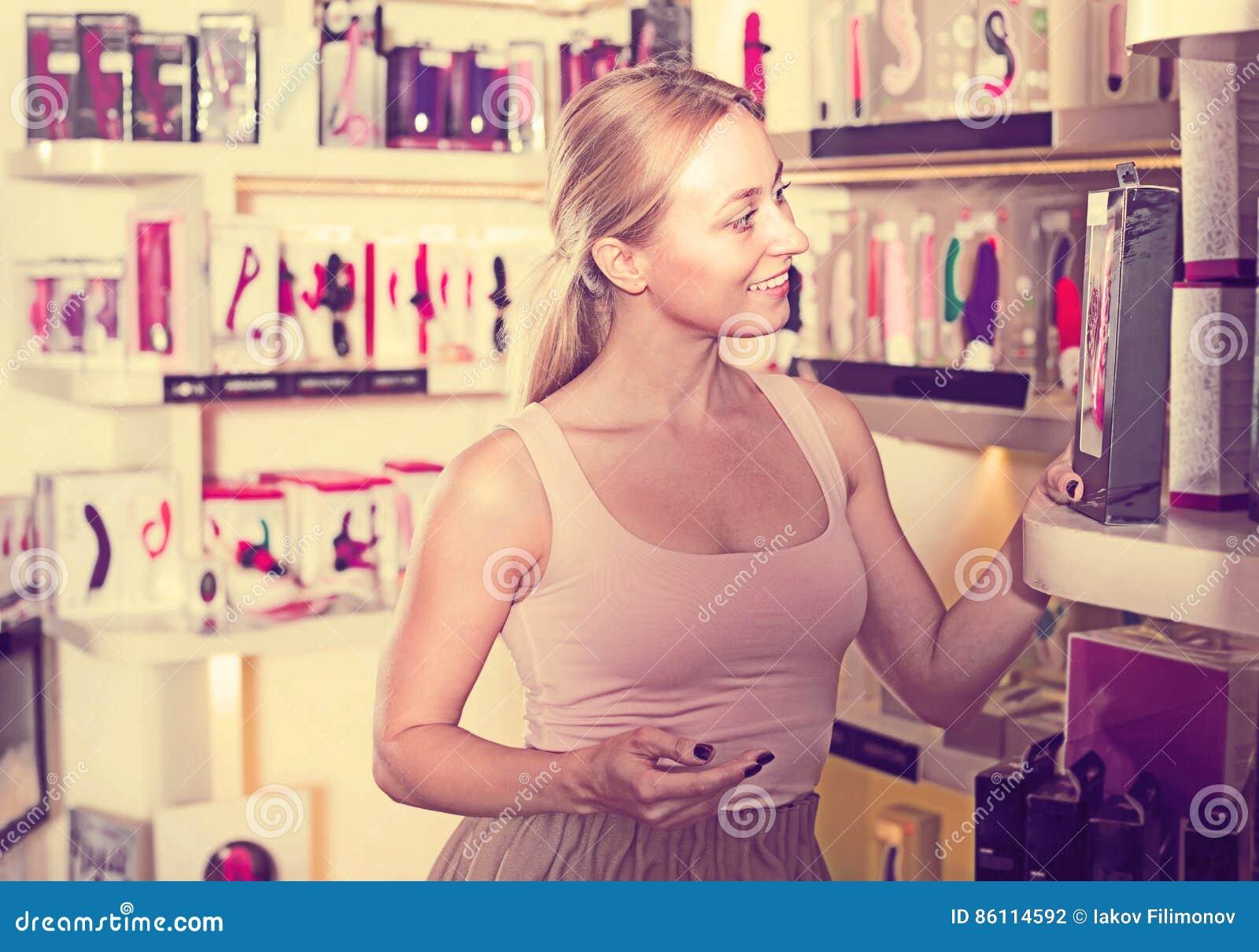Girls have sex in sex shop