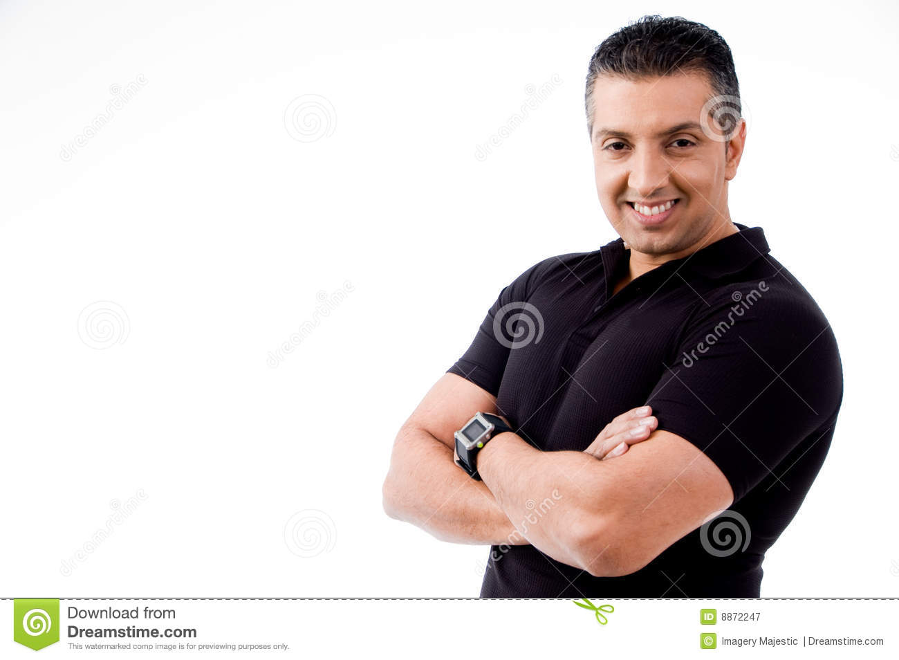 Adult Man With Crossed Arms Looking At Camera Royalty Free Stock Photography Image 8872247