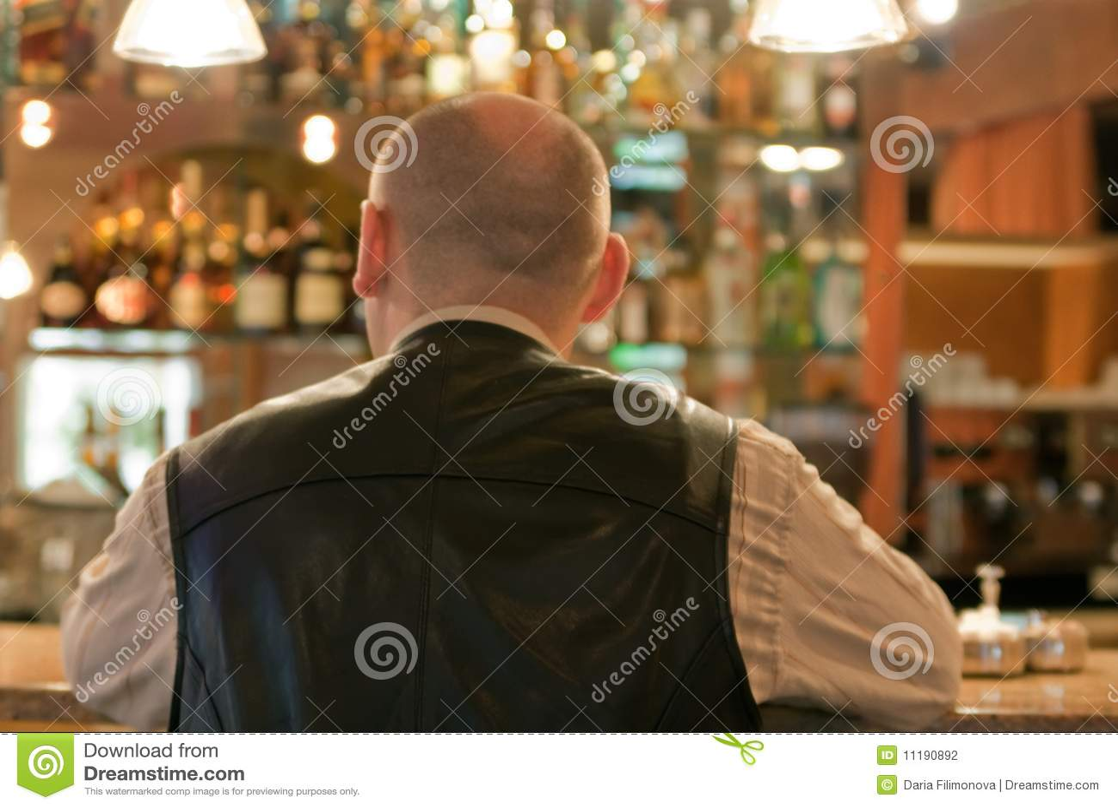 Adult men in coffee room