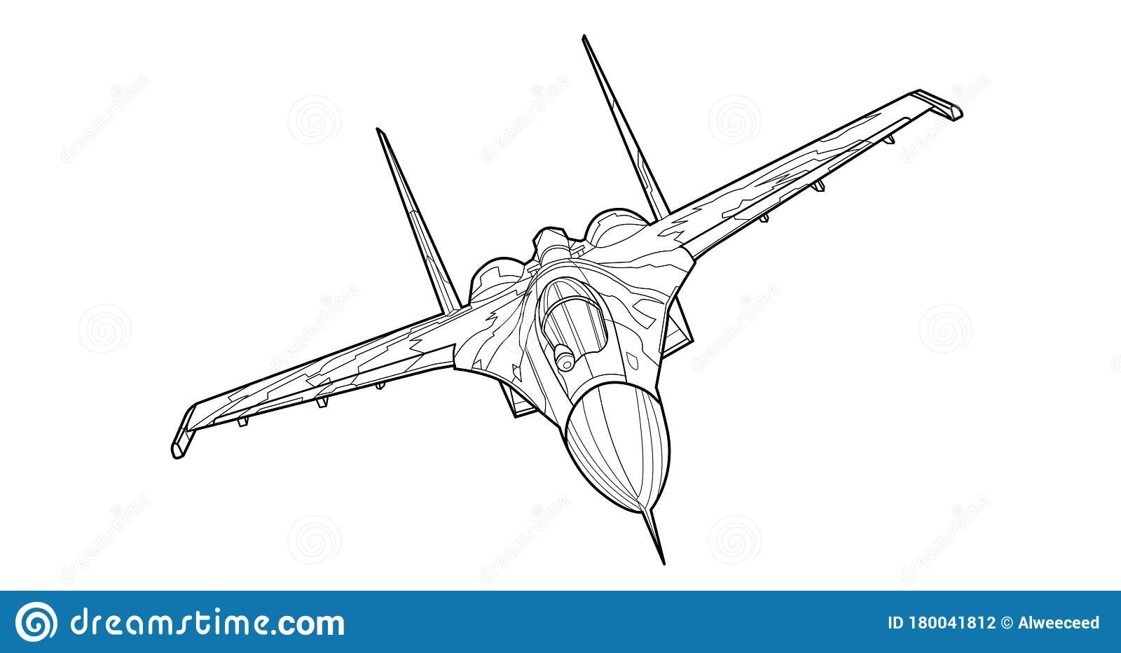 Adult Military Aircraft Coloring Page For Book Vector Black Contour Sketch Illustrate Isolated On White Background Stock Vector Illustration Of Silhouette Side 180041812