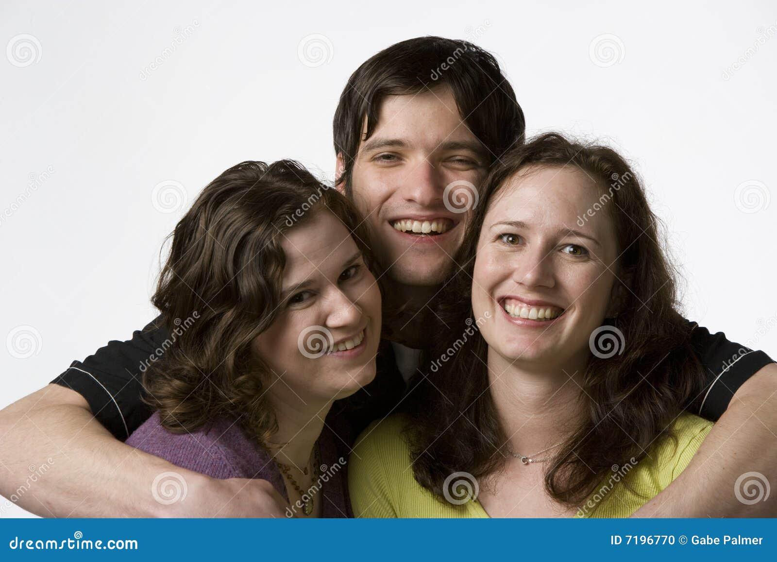 Adult portrait siblings three