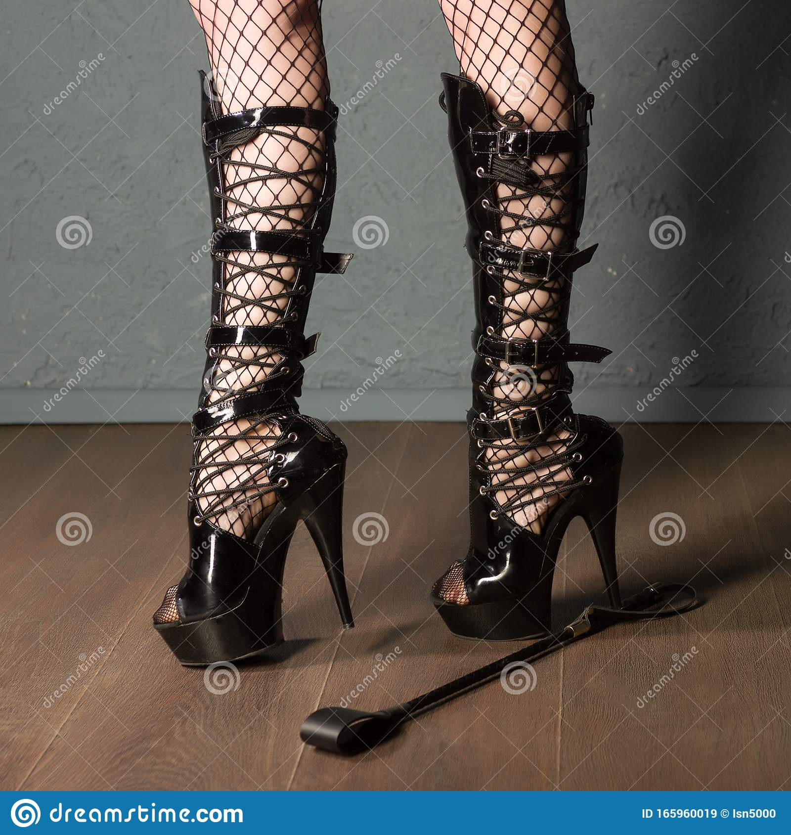 Adult Sex Games Girl Legs In Fishnet And High Heels Fetish Boots