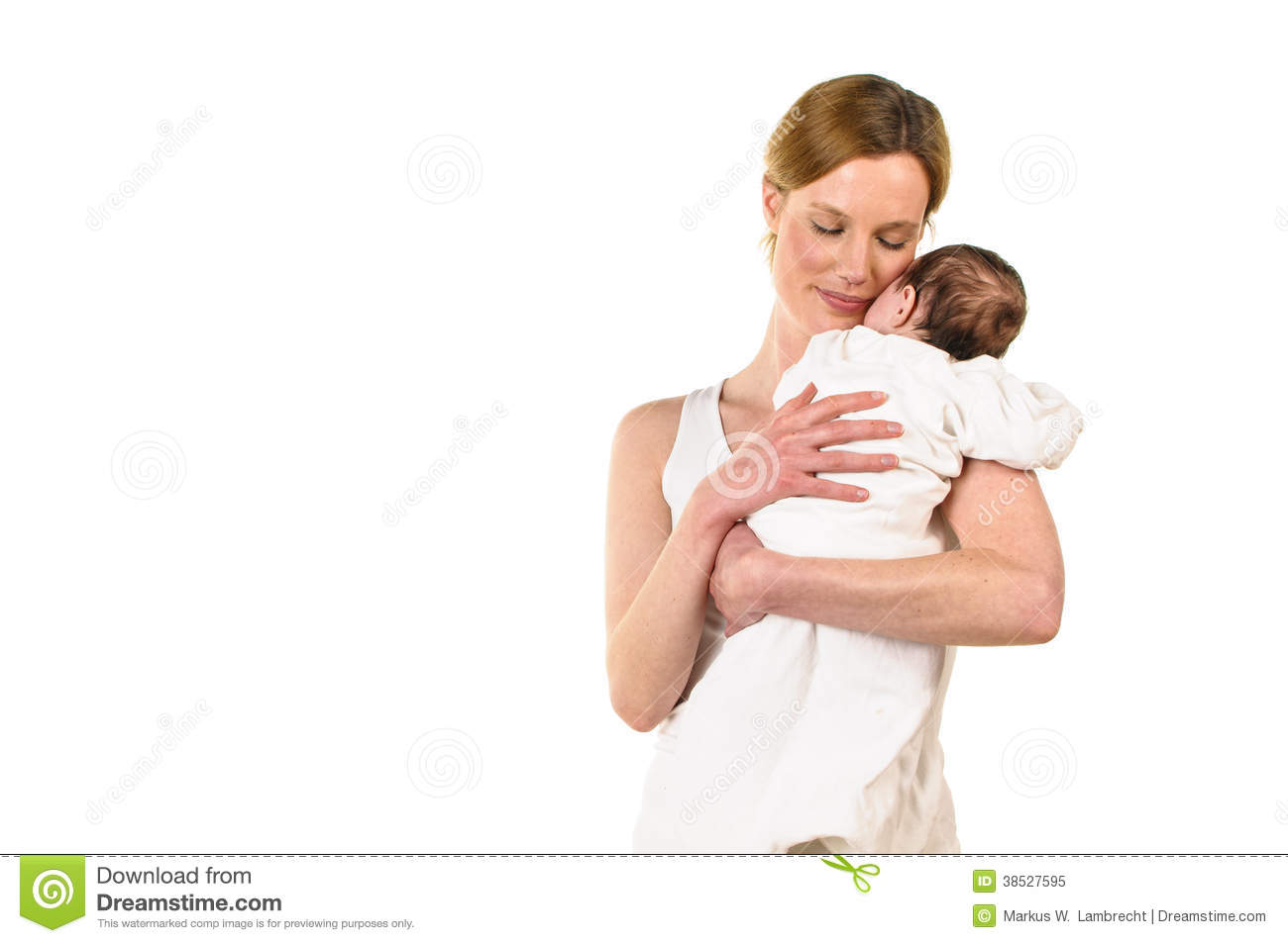 Adult Woman Holding Baby In Her Arms Stock Image - Image ...