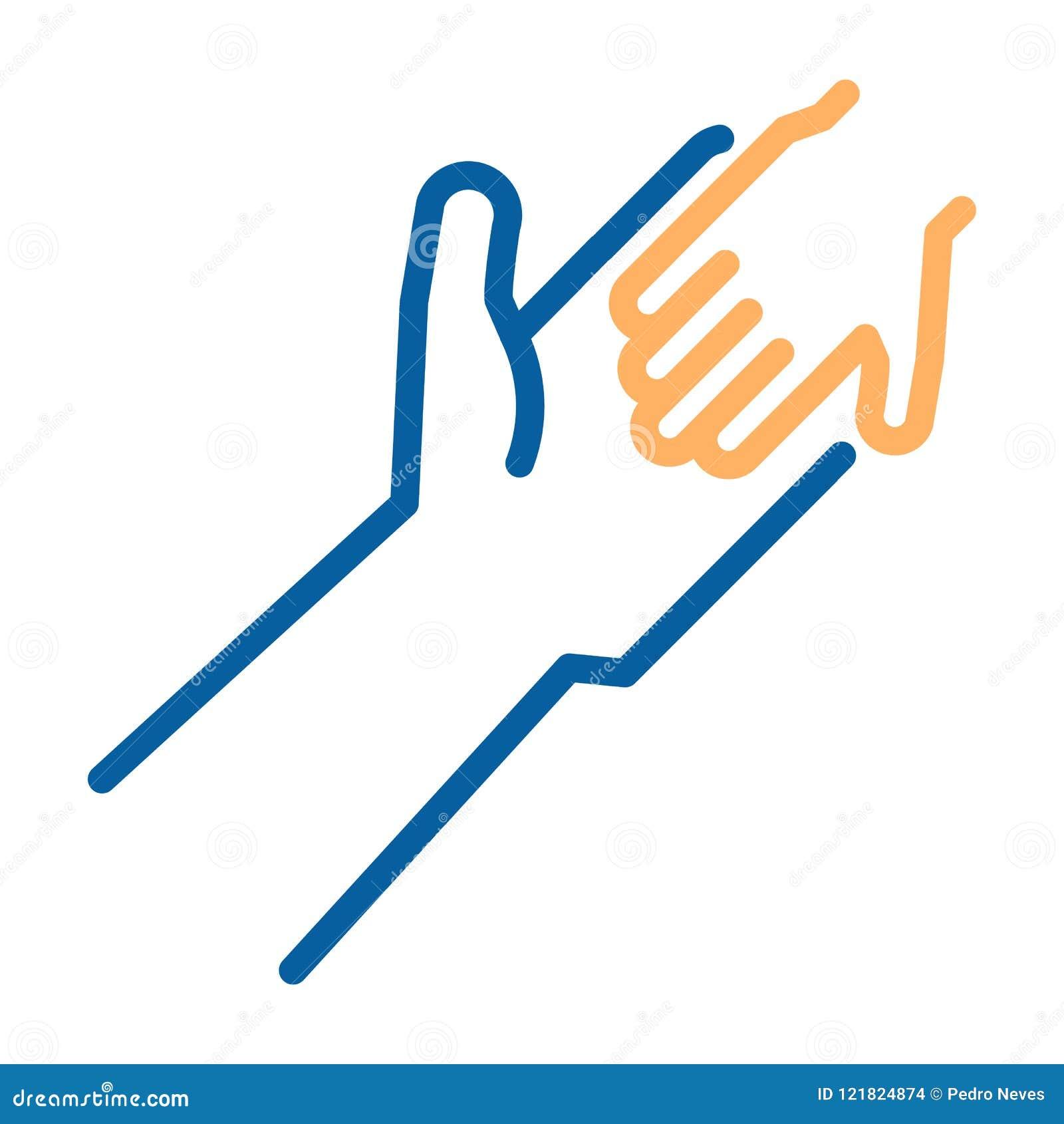 Adulto e criança que guardam o ícone das mãos Linha fina ilustração do vetor Ajuda humanitária, adotando uma criança, laços de fa
