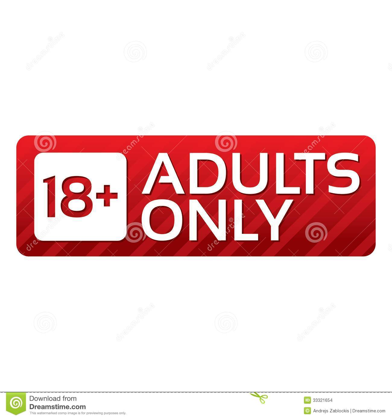Adults Only Content Button. Vector Red Sticker. Stock Images - Image ...