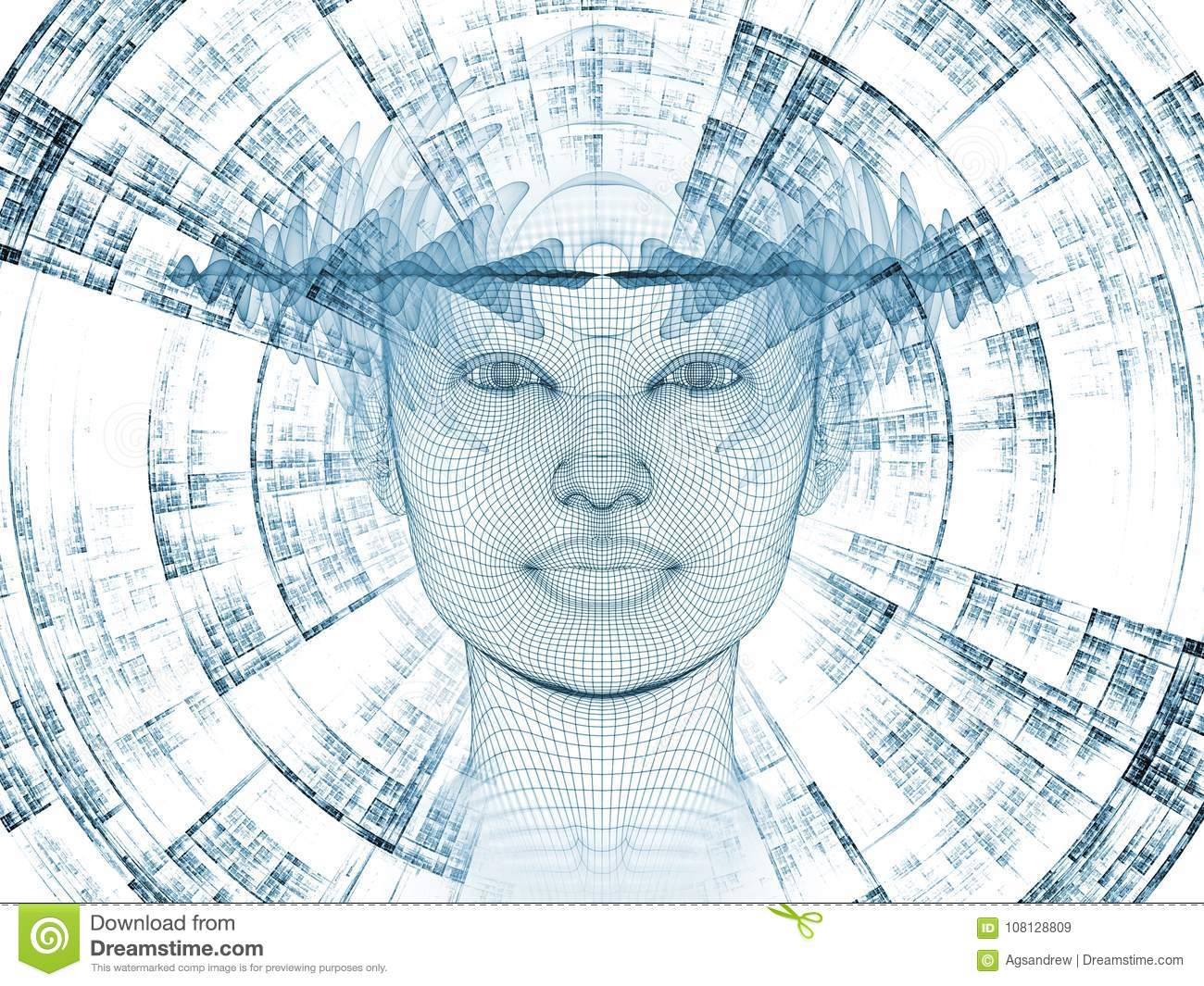 Advance of the Mind stock illustration. Illustration of artificial ...