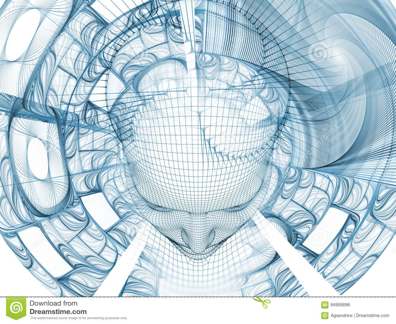 Advance of the Mind stock illustration. Illustration of abstract ...