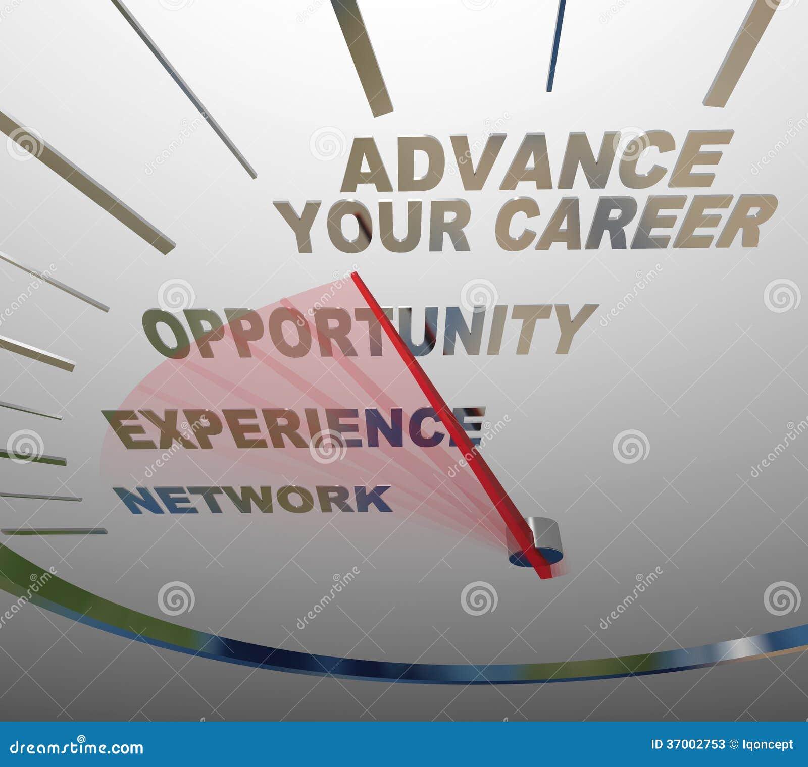 advance your career words speedometer job promotion raise stock advance your career words speedometer job promotion raise