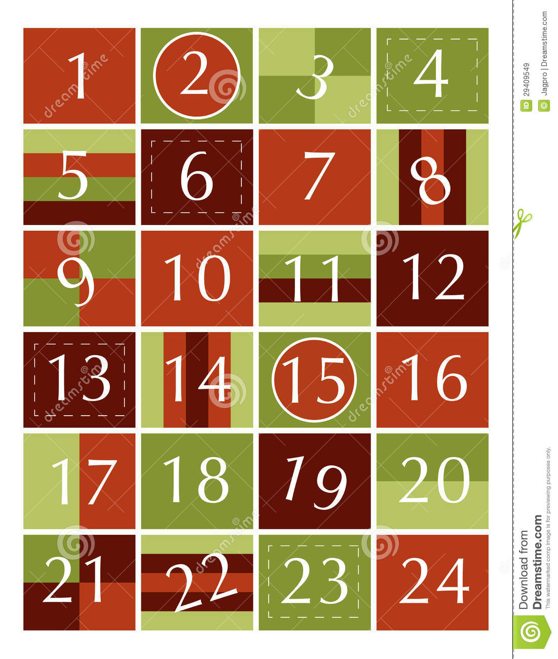 Calendar Numbers Clipart : Advent calendar stock illustration of
