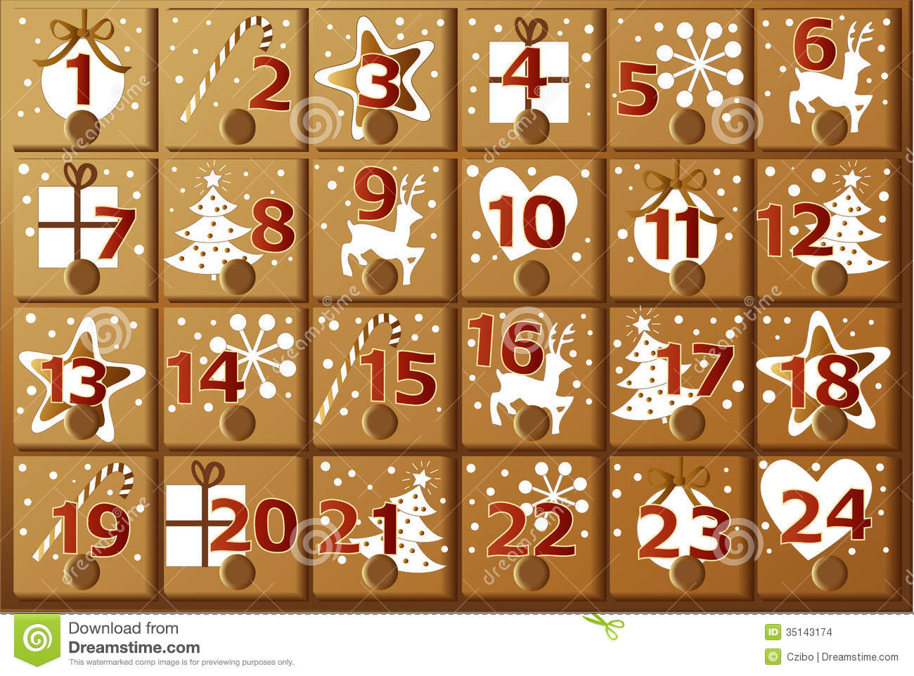 Advent Calendar Clipart advent calendar stock images - image: 35143174