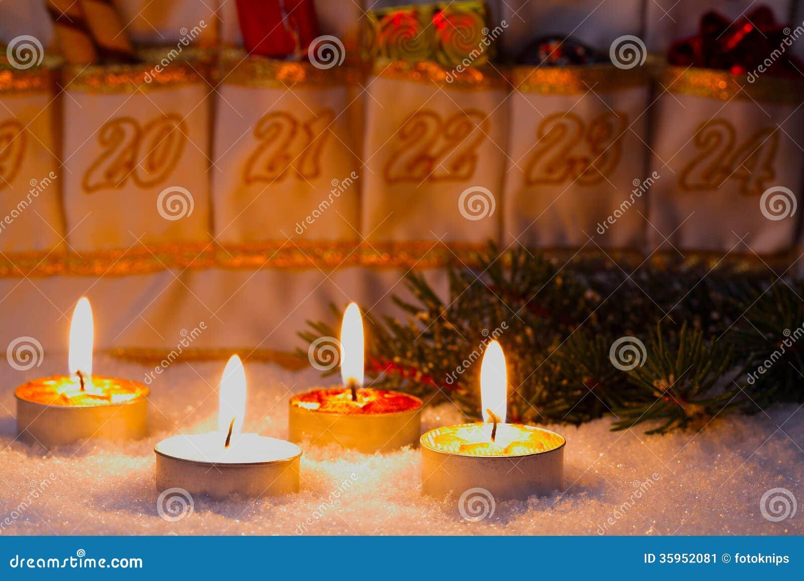 Advent Calendar por luz de una vela