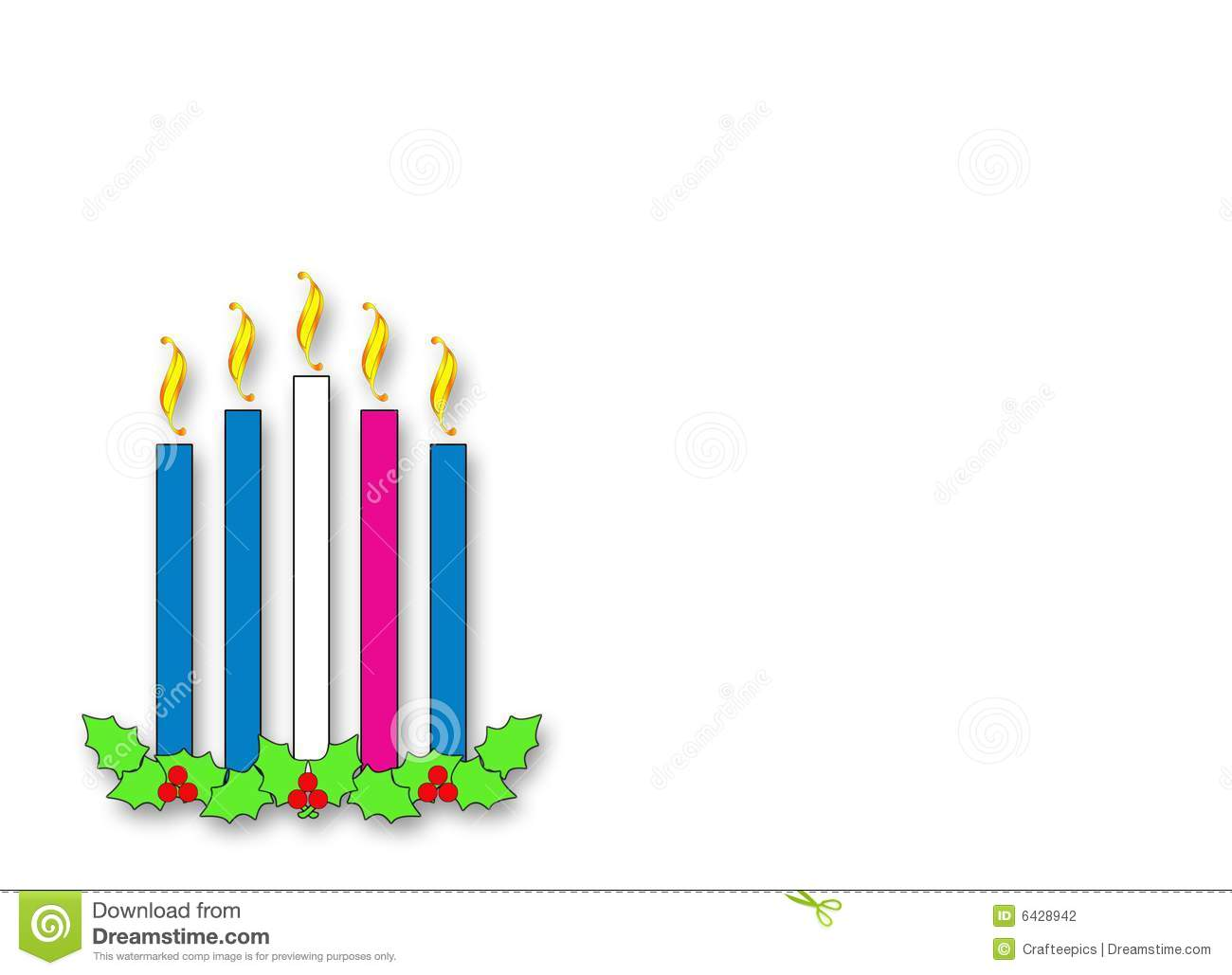 horizontal version of Advent candles with holly and berries with ...