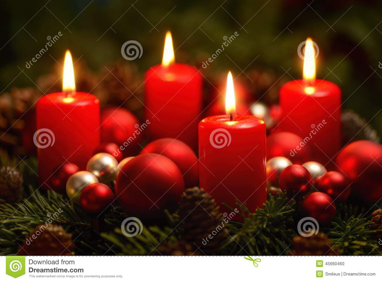 advent wreath with 4 burning candles stock photo image. Black Bedroom Furniture Sets. Home Design Ideas