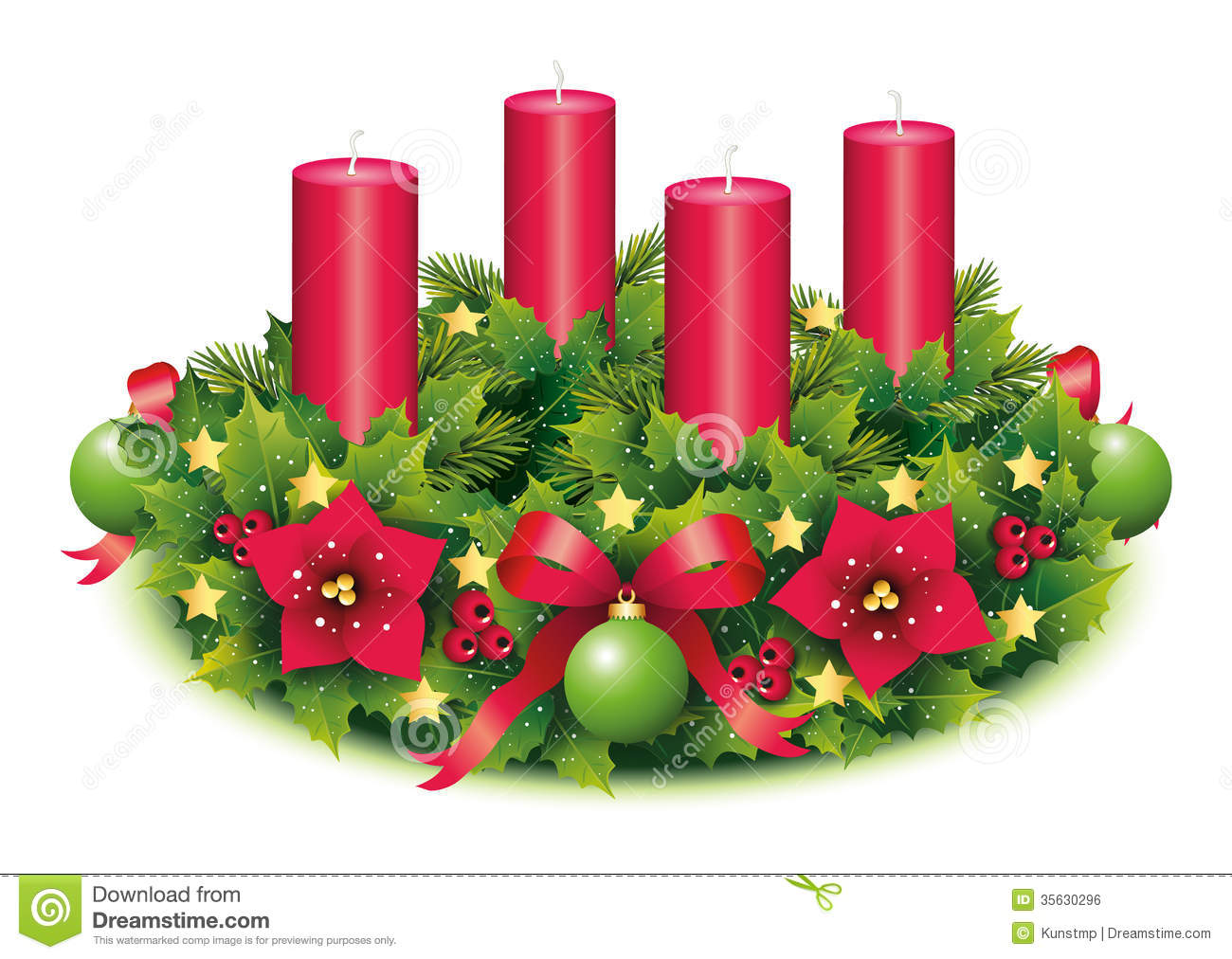 Advent Wreath Four Candle Stock Photo Image Of Advent
