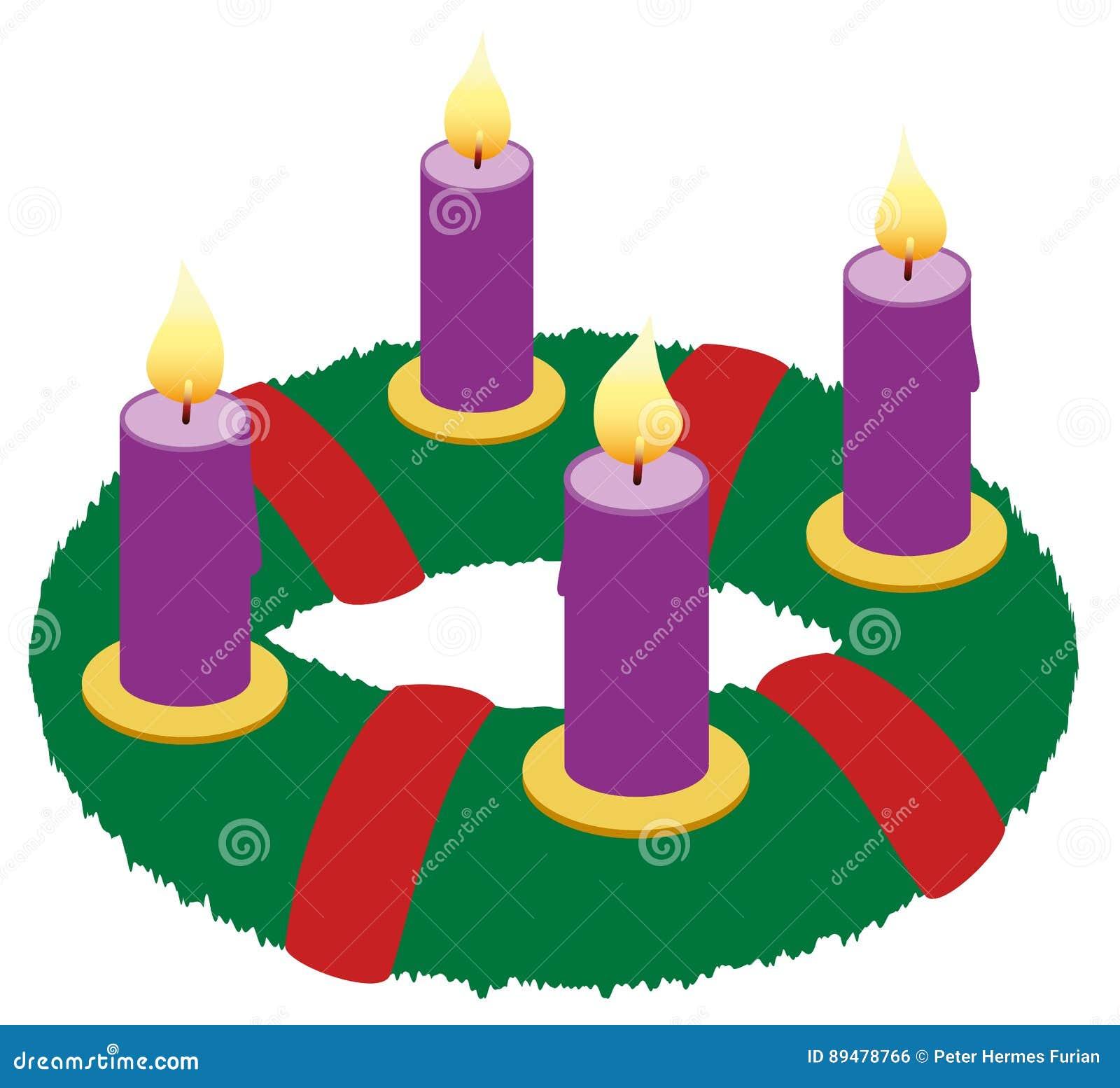 Advent Wreath Illustration Icon Symbol Stock Vector Illustration