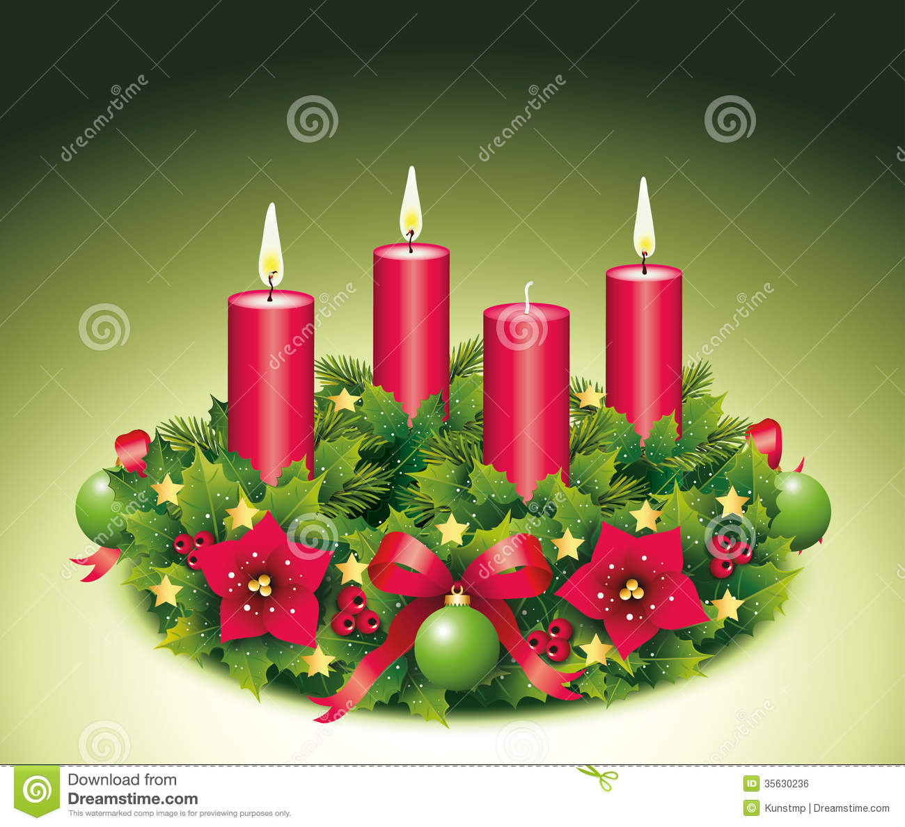 Advent Wreath Three Bu...