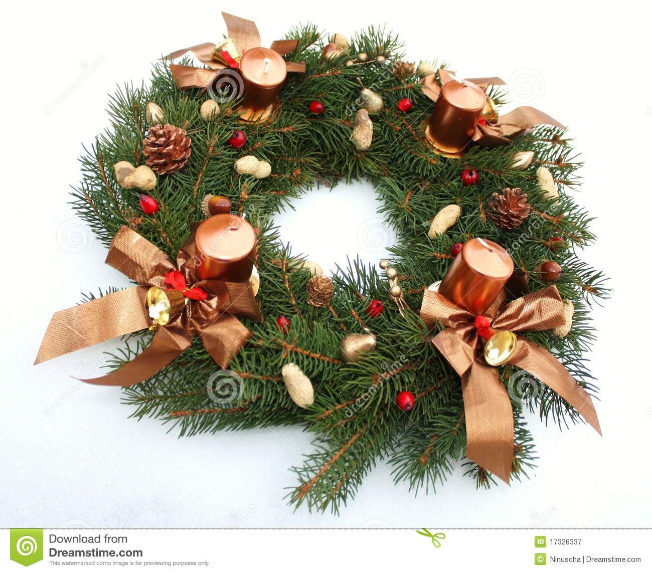 Advent Wreath Decorations Advent Wreath Wih Christmas Decoration Stock Photography Image