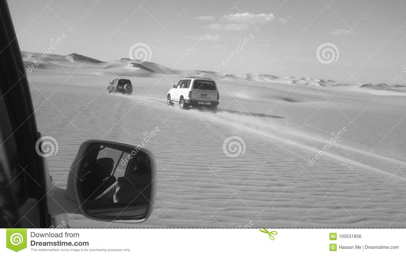 siwa oasis Adventure across the great desert sands in black and white