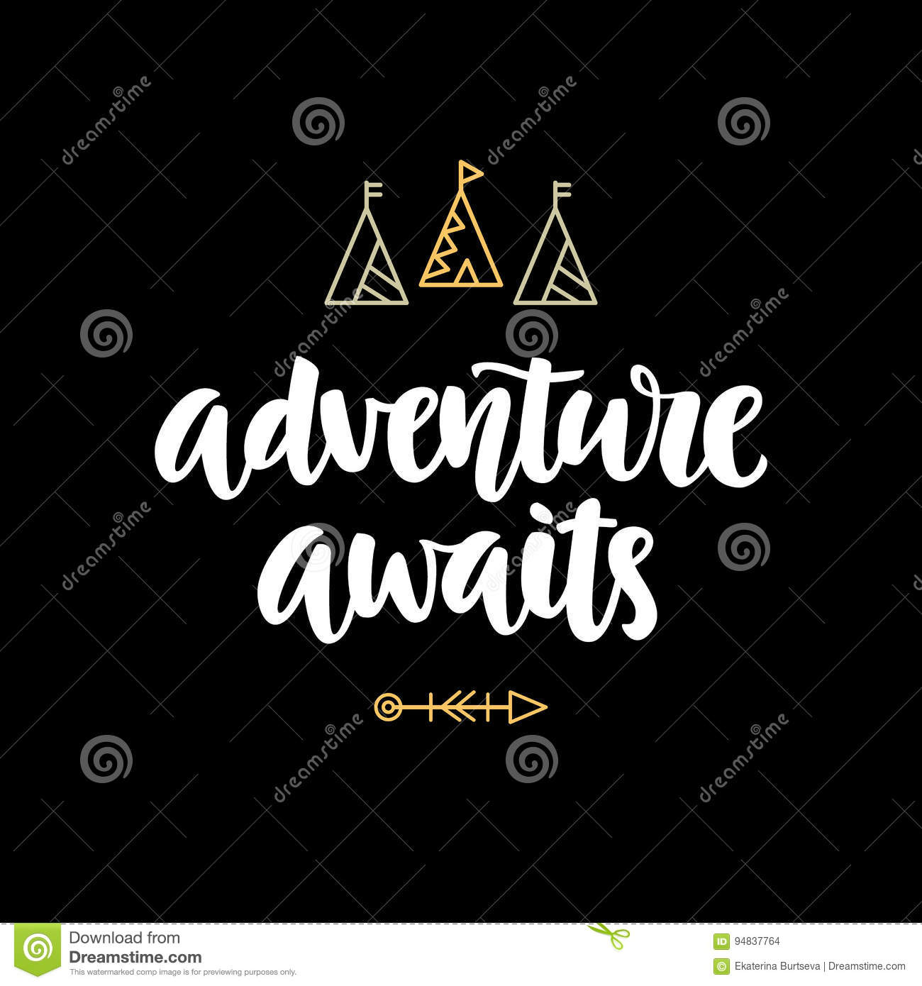 T Stock Quote: Adventure Awaits Hipster Photo Overlay, Inspiration Quote
